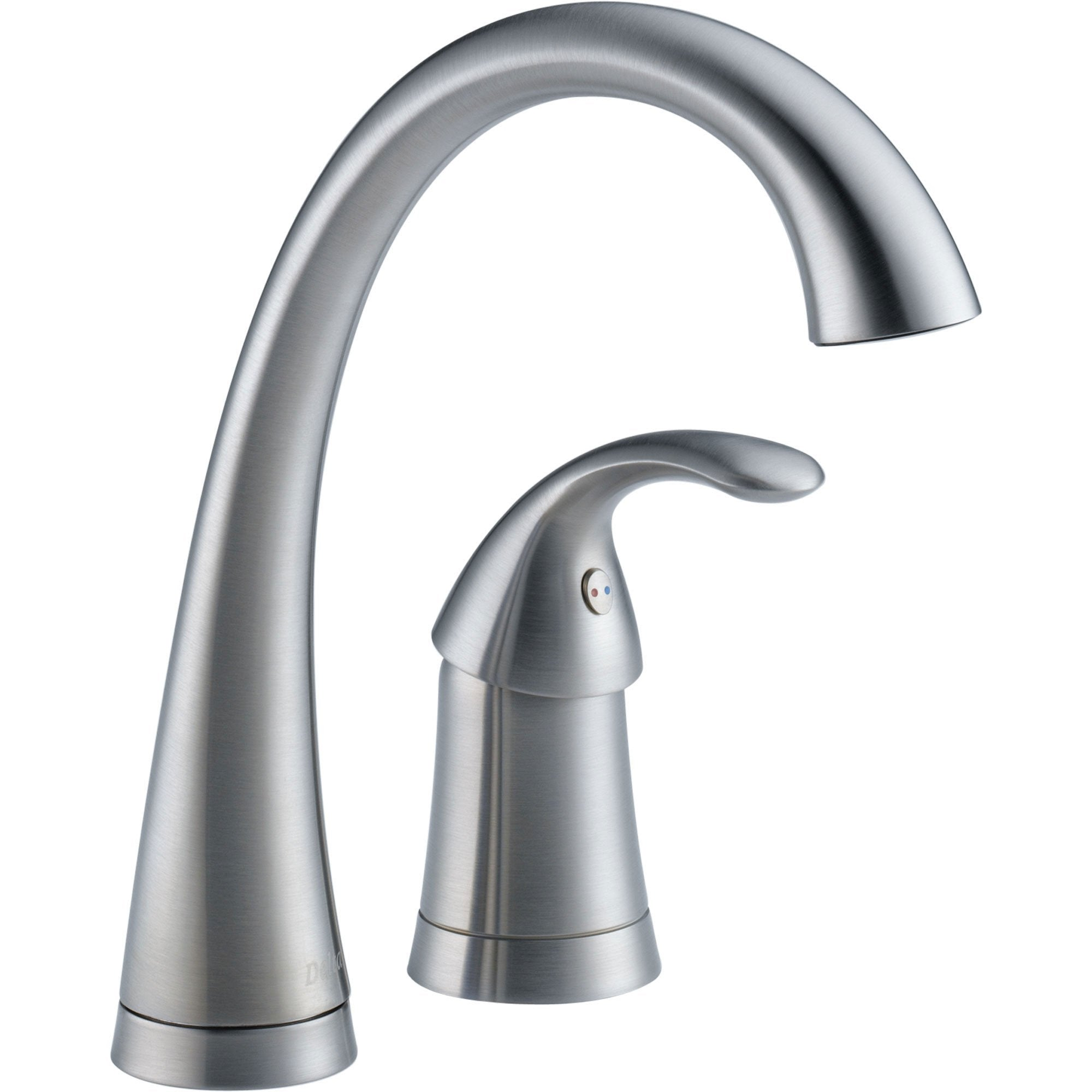 Delta Pilar Single Handle Bar / Prep Sink Faucet in Arctic Stainless 571014
