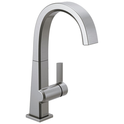 Delta Pivotal Arctic Stainless Steel Finish Single Handle Bar Prep Sink Faucet D1993LFAR