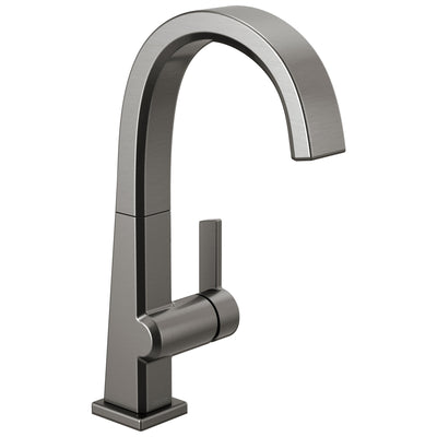 Delta Pivotal Black Stainless Steel Finish Single Handle Bar Sink Faucet D1993LFKS