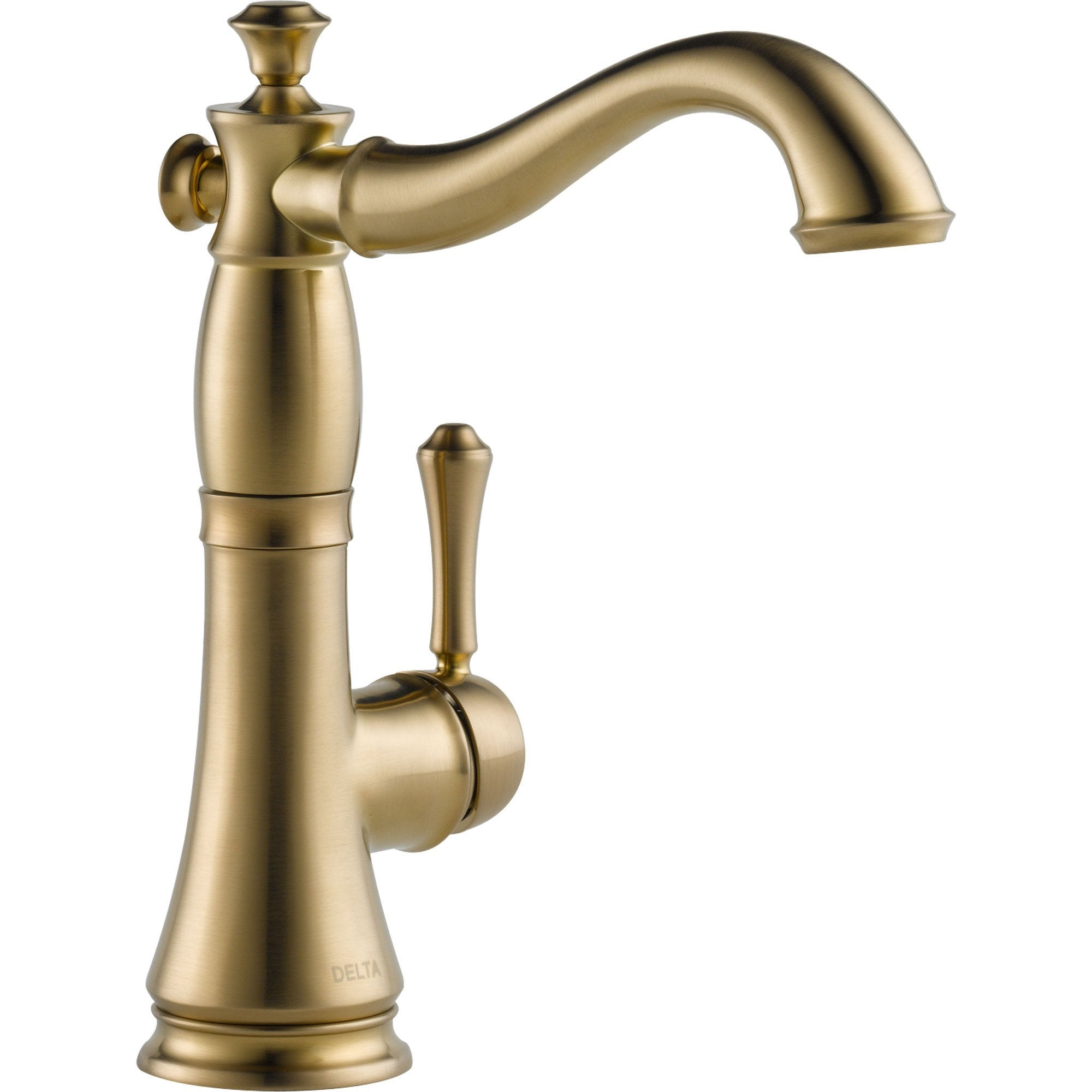 Delta Cassidy Champagne Bronze Single Hole 1 Handle Bar Faucet