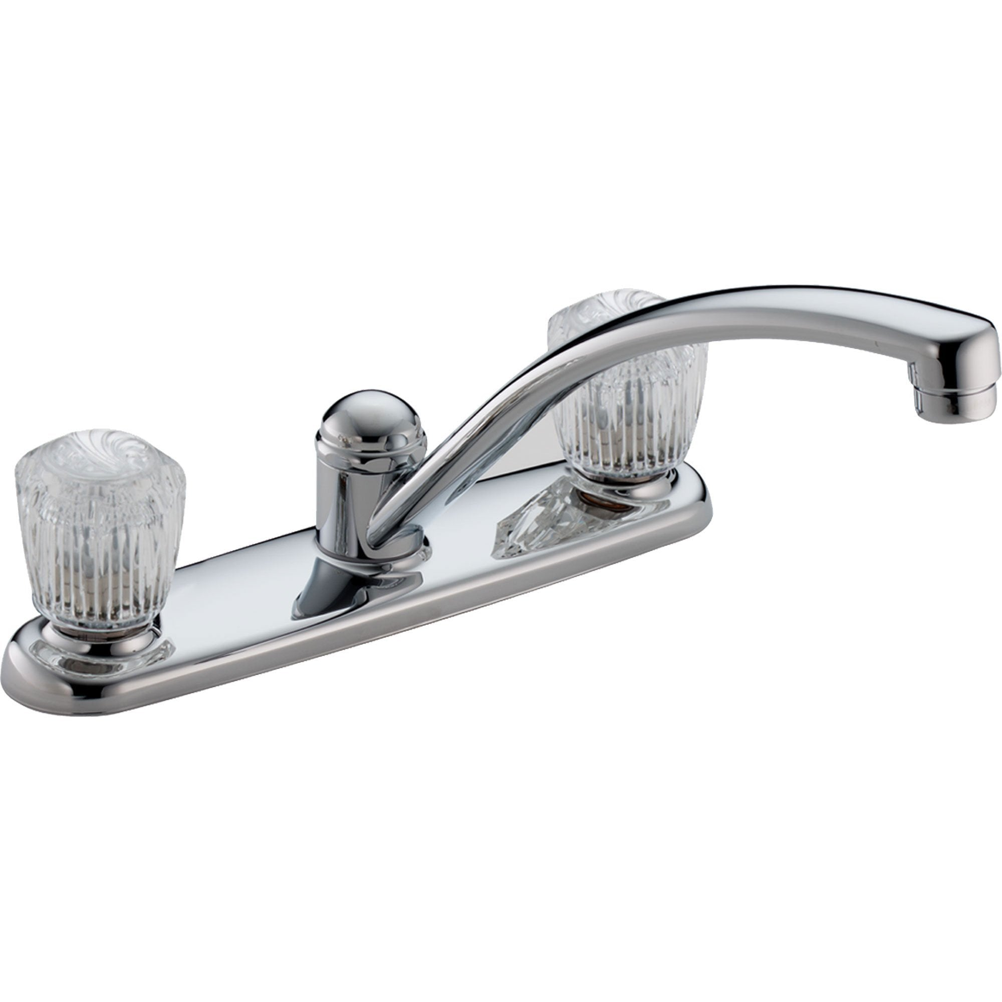 Delta Classic 2-Handle Acrylic Knob Kitchen Faucet in Chrome 474523