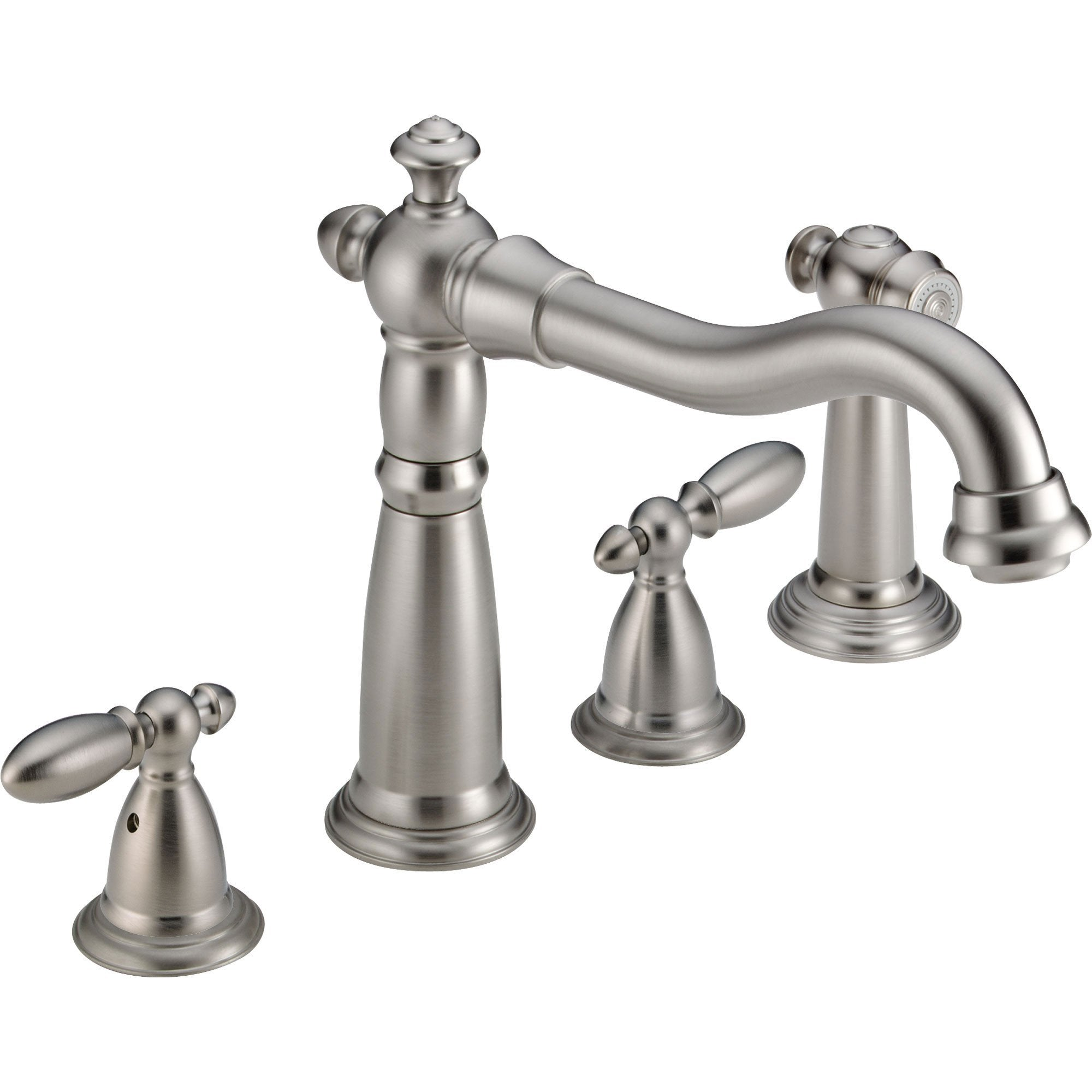 Delta Victorian Stainless Steel Finish Widespread Kitchen Faucet w/ Spray 556046