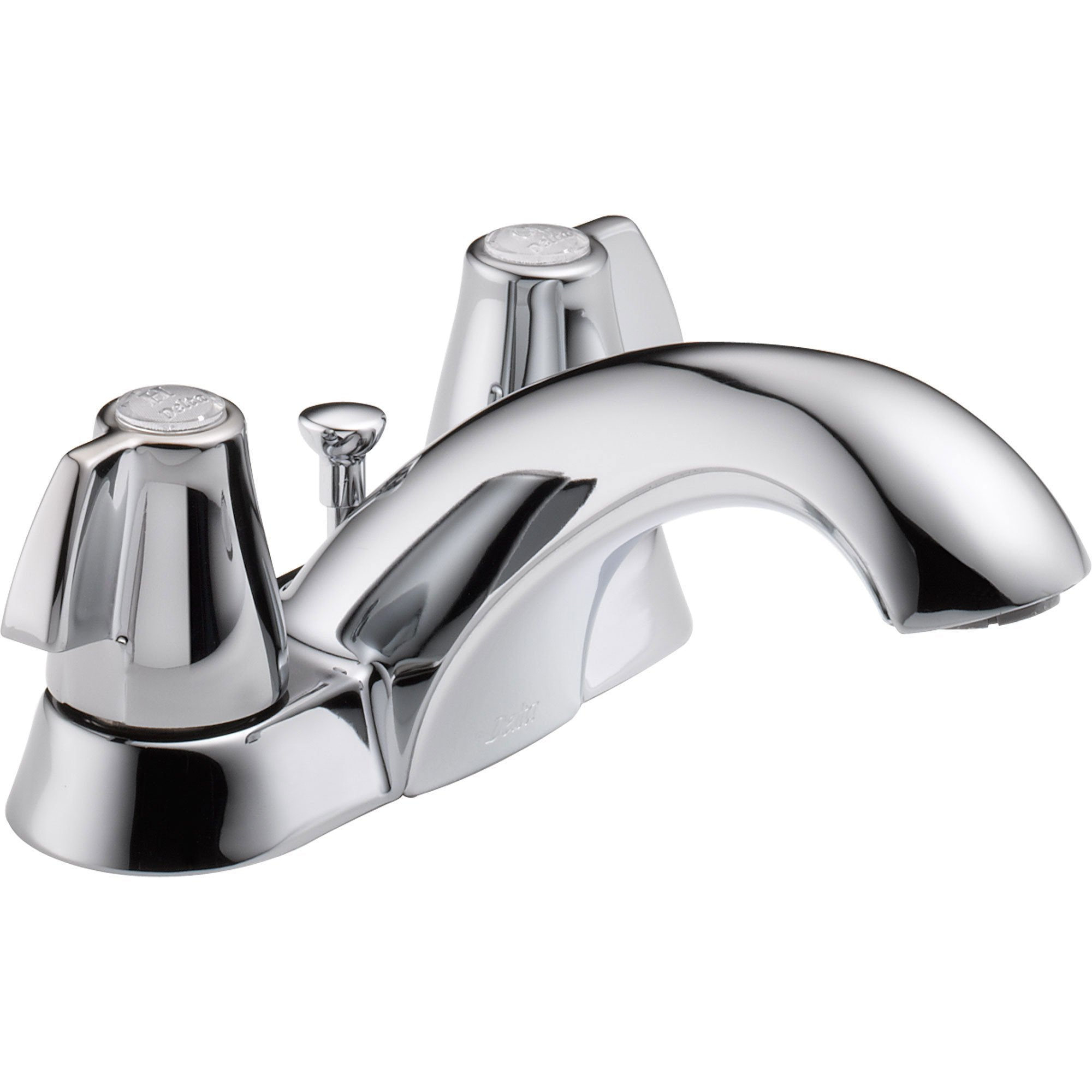 "Delta Classic 4"" Centerset Chrome 2-Handle Mid Arc Bathroom Sink Faucet 474256"