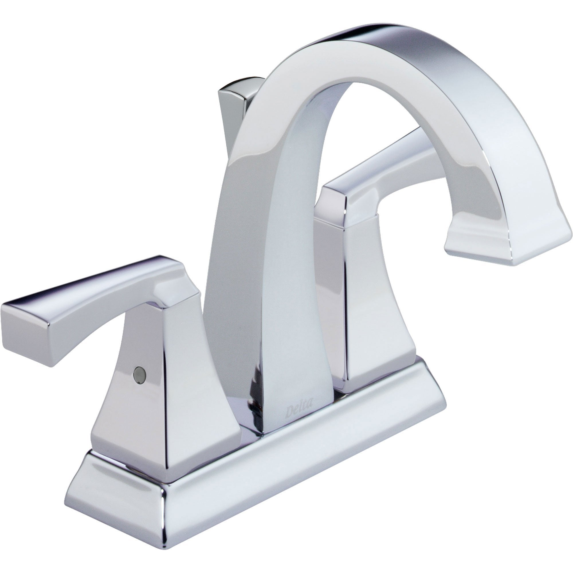 "Delta Dryden Modern 4"" Chrome Finish Centerset Bathroom Faucet 614850"