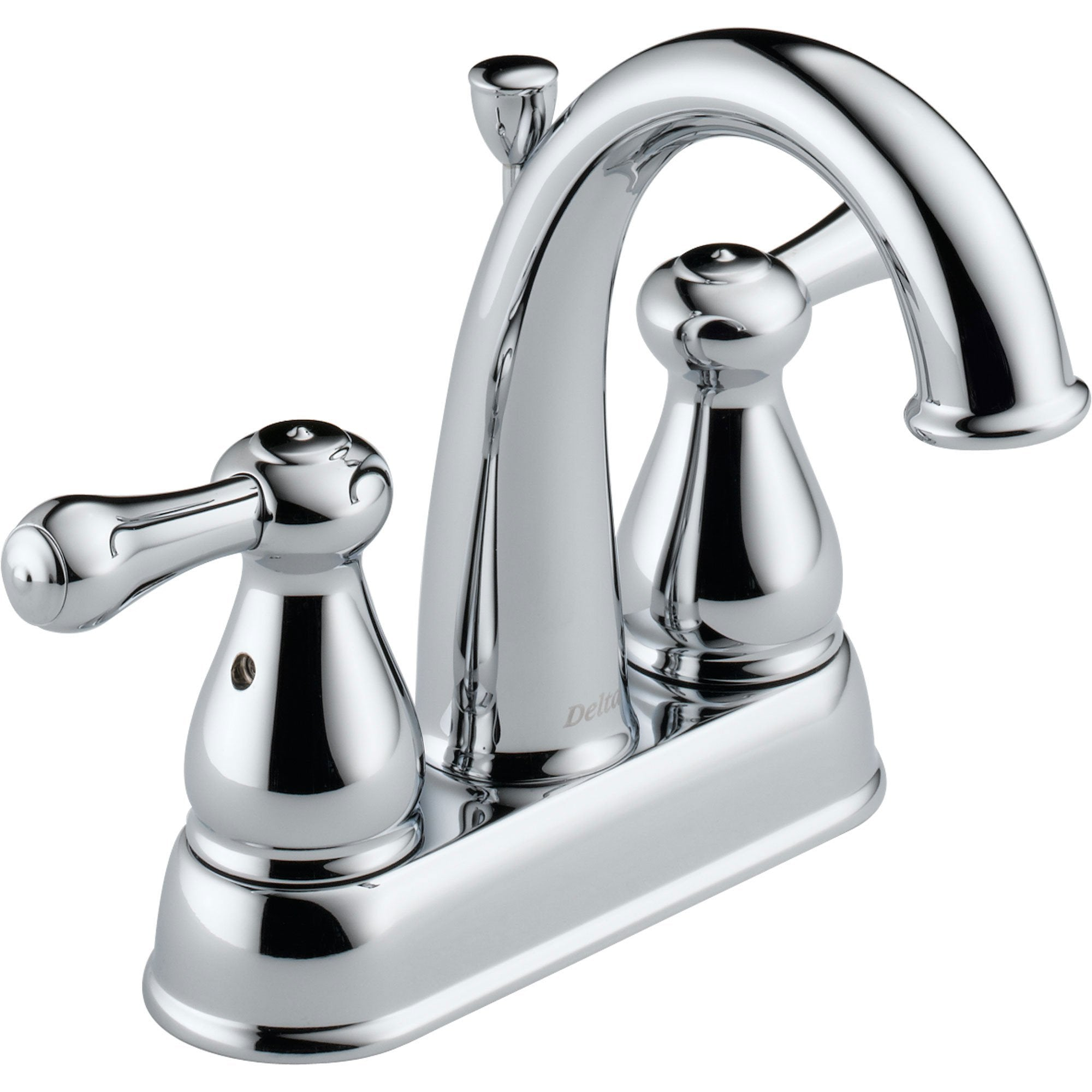 "Delta Leland 4"" Centerset Chrome Finish High Arc Bathroom Sink Faucet 572910"