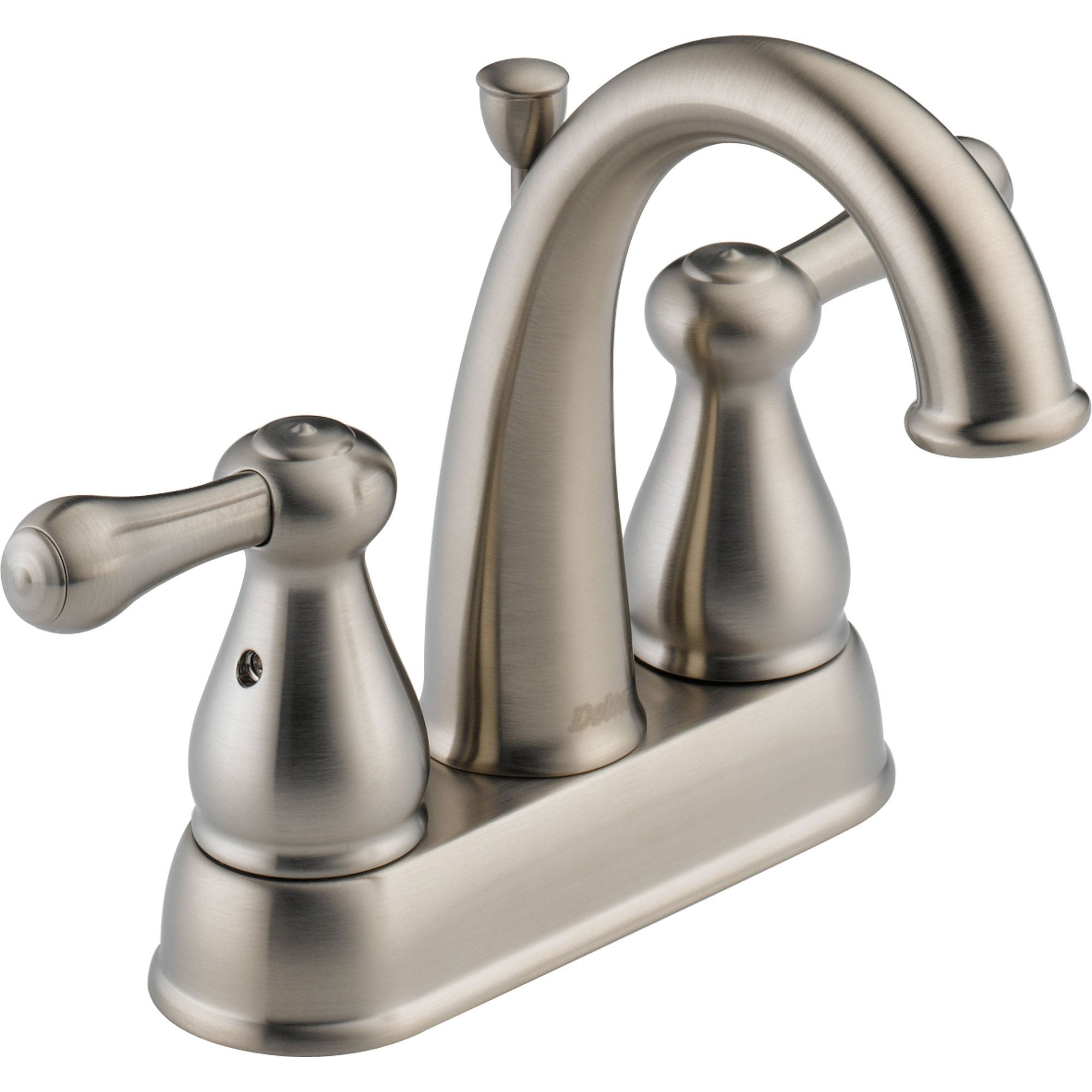 "Delta Leland 4"" Centerset Stainless Finish High Arc Bathroom Sink Faucet 572912"