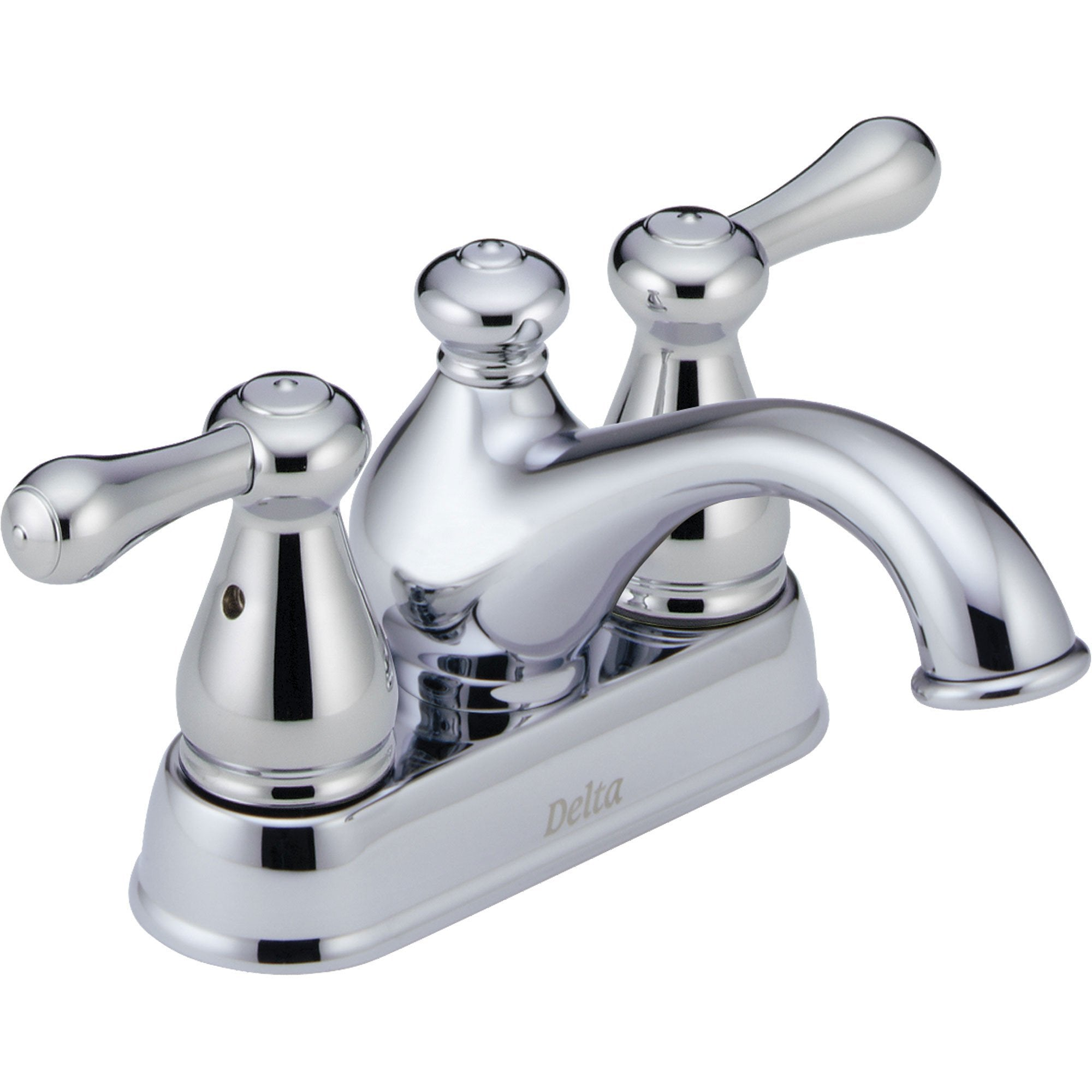 "Delta Leland 4"" Centerset Chrome Finish Low Arc Bathroom Sink Faucet 474282"