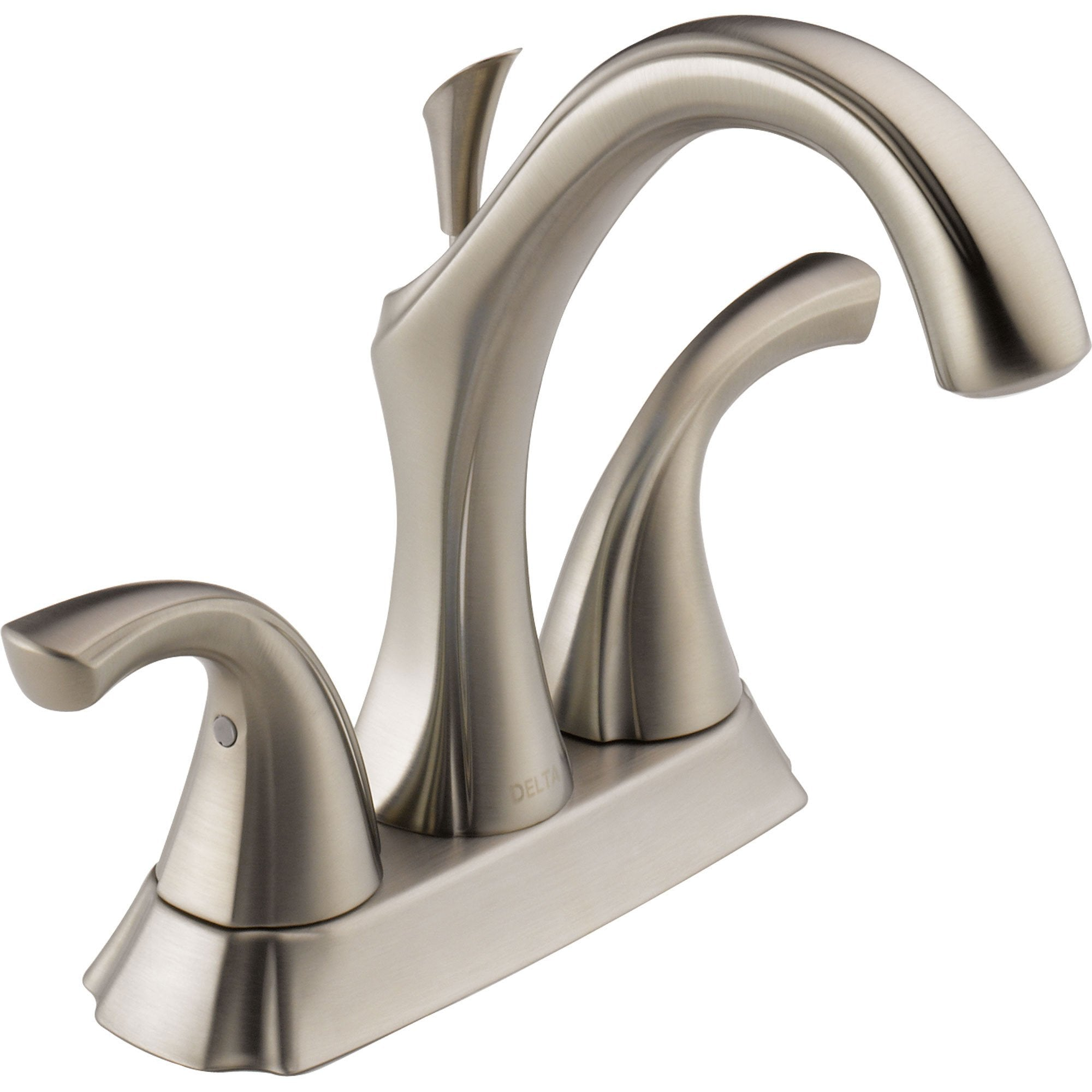 "Delta Addison High Arc Stainless Finish 4"" Centerset Bathroom Faucet 614867"