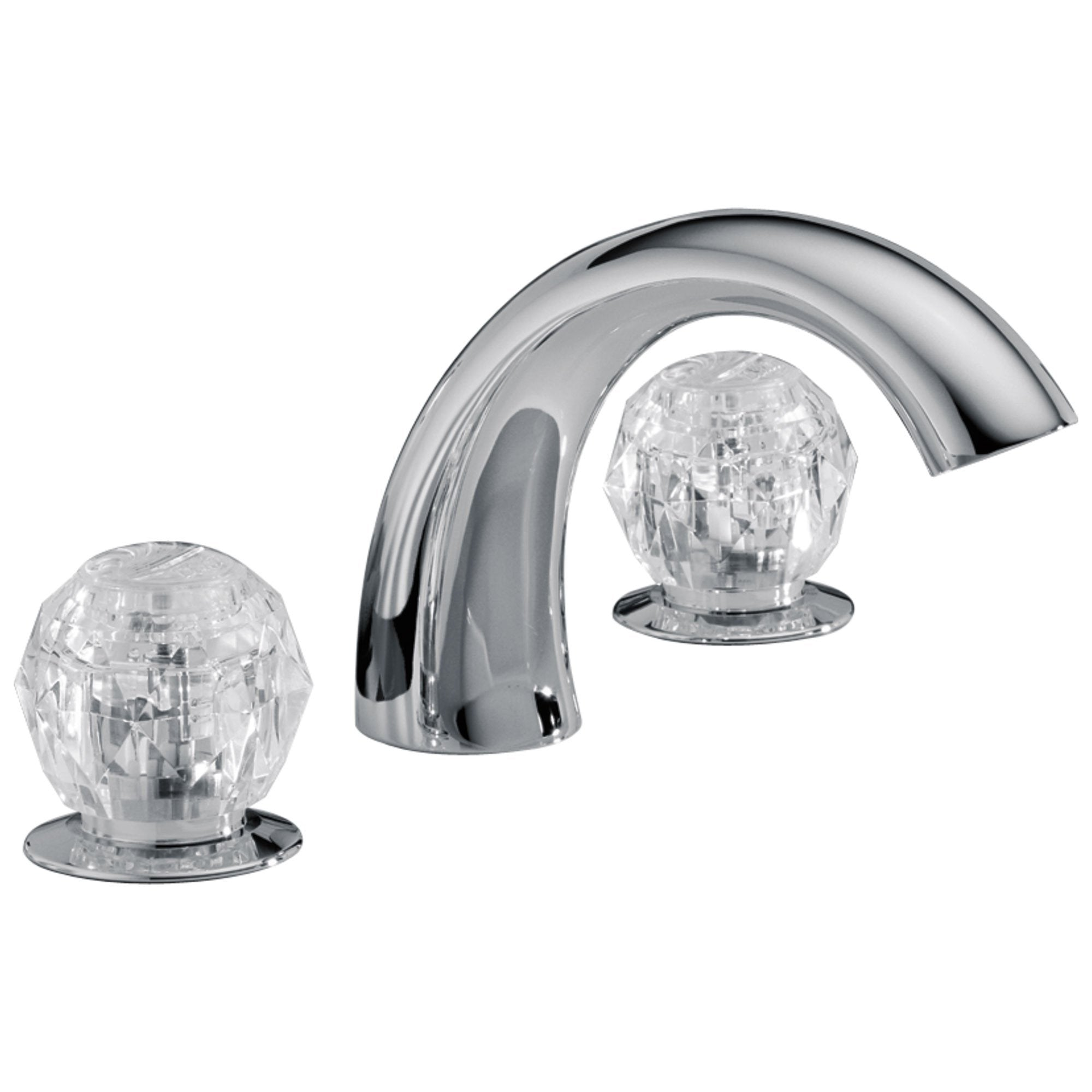 Delta Chrome Finish Roman Tub Filler Faucet Complete Fixture Includes Trim Kit and Rough-in Valve 655018