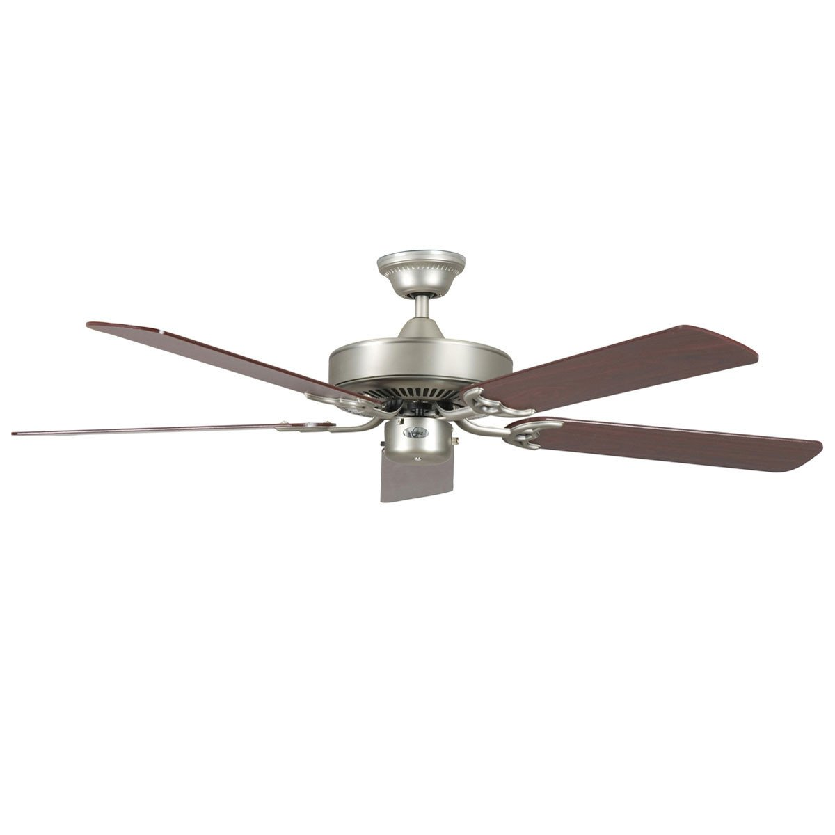 "Concord Fans 42"" California Home Energy Saver Satin Nickel Small Ceiling Fan"