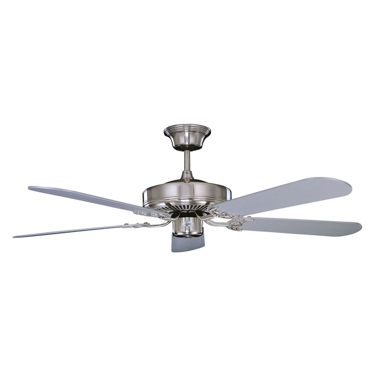 "Concord Fans Decorama Small Modern 52"" Stainless Steel Ceiling Fan"