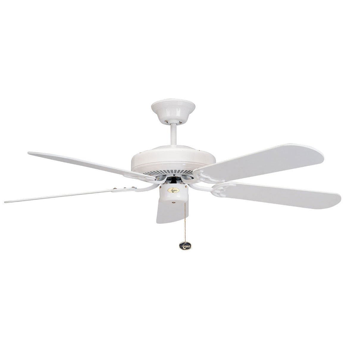 "Concord Fans Decorama Energy Saver Modern 52"" Small White Ceiling Fan"