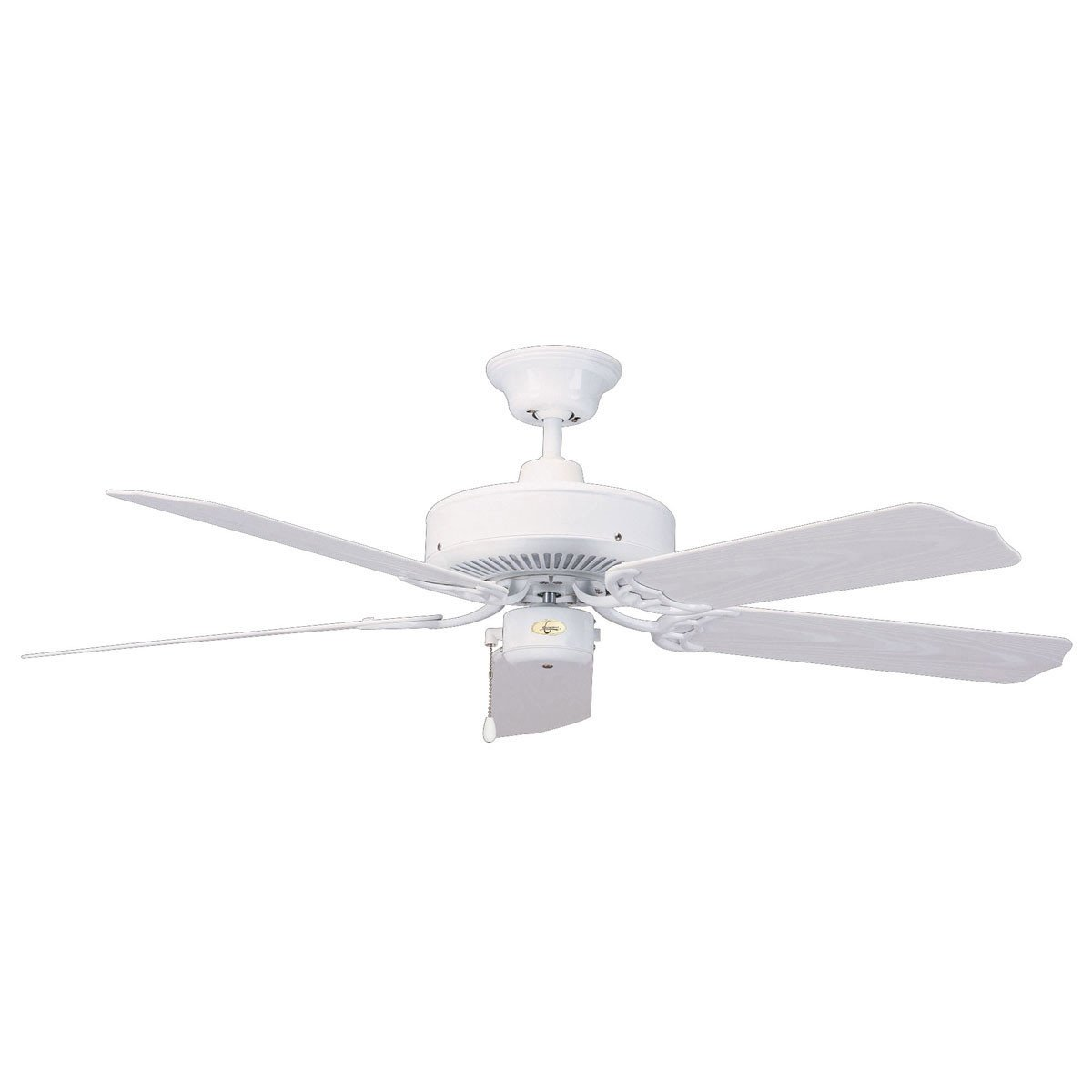 "Concord Fans 44"" Wet Location Small White Energy Saver Outdoor Ceiling Fan"