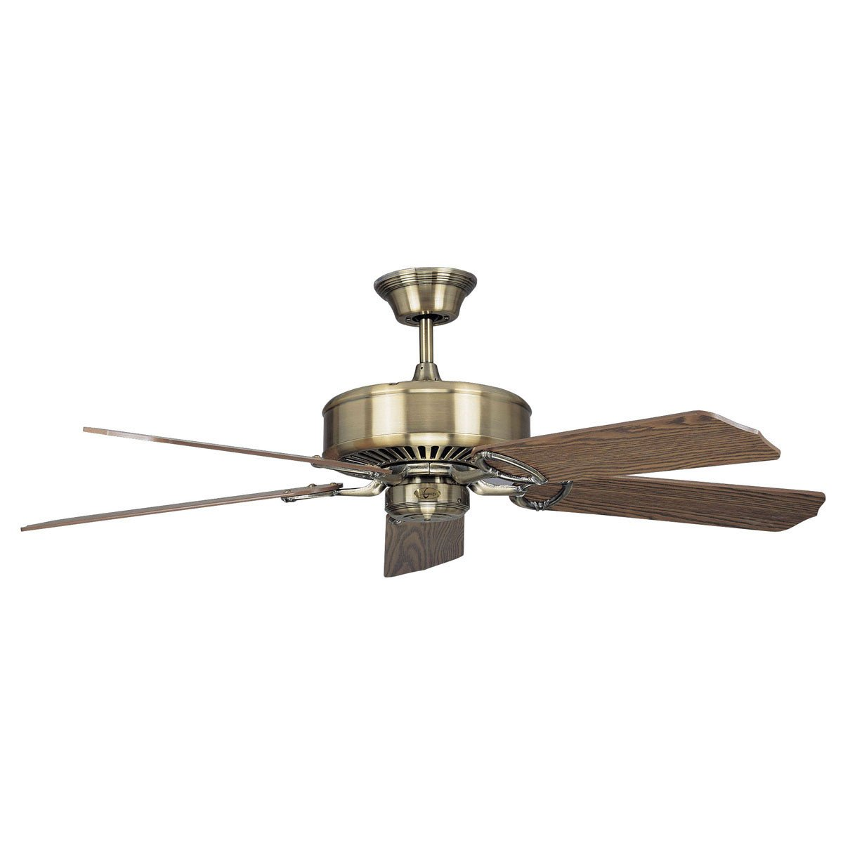 "Concord Fans 60"" Madison Large Antique Brass Modern Ceiling Fan"
