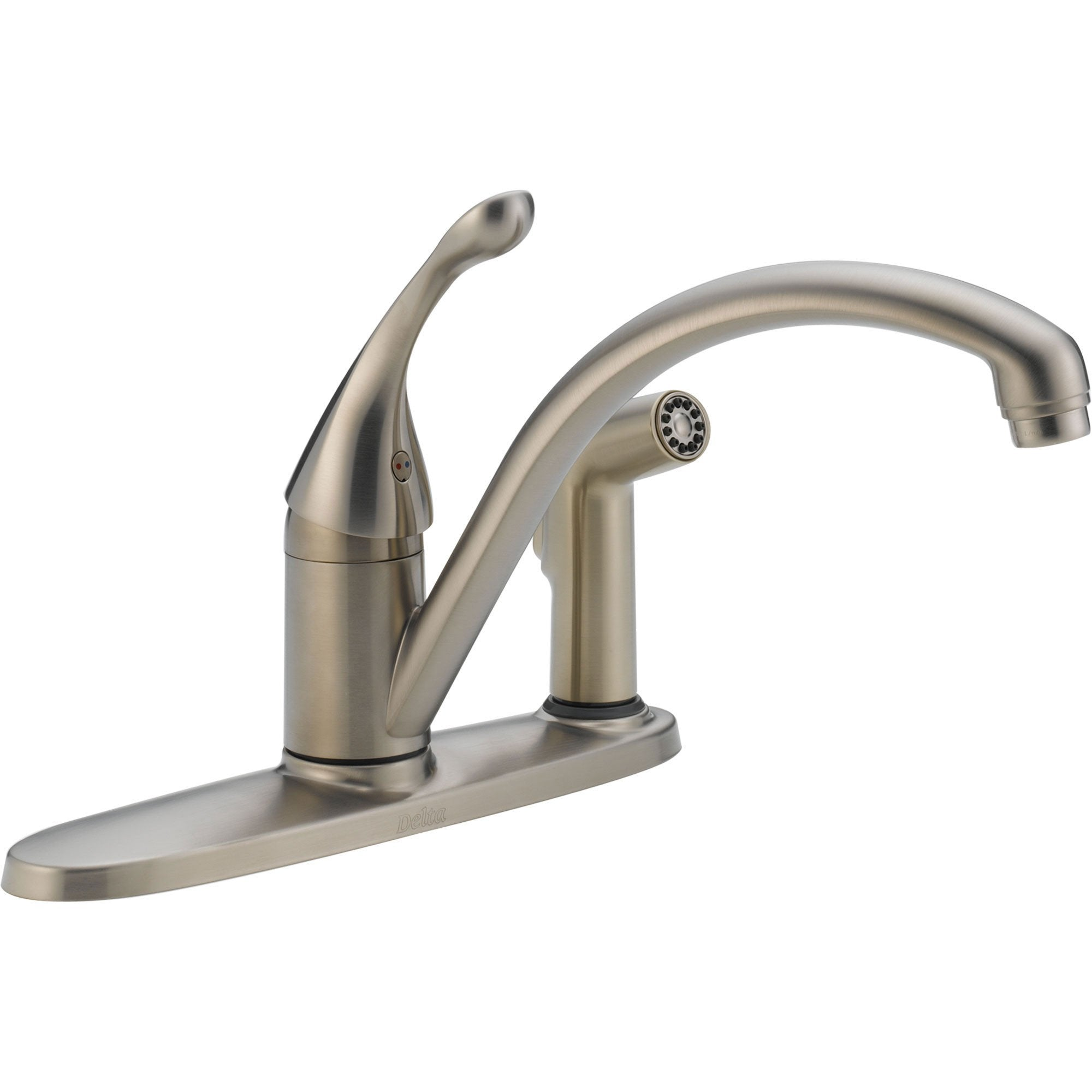 Delta Collins Single Handle Stainless Kitchen Faucet Integral Side Spray 465282