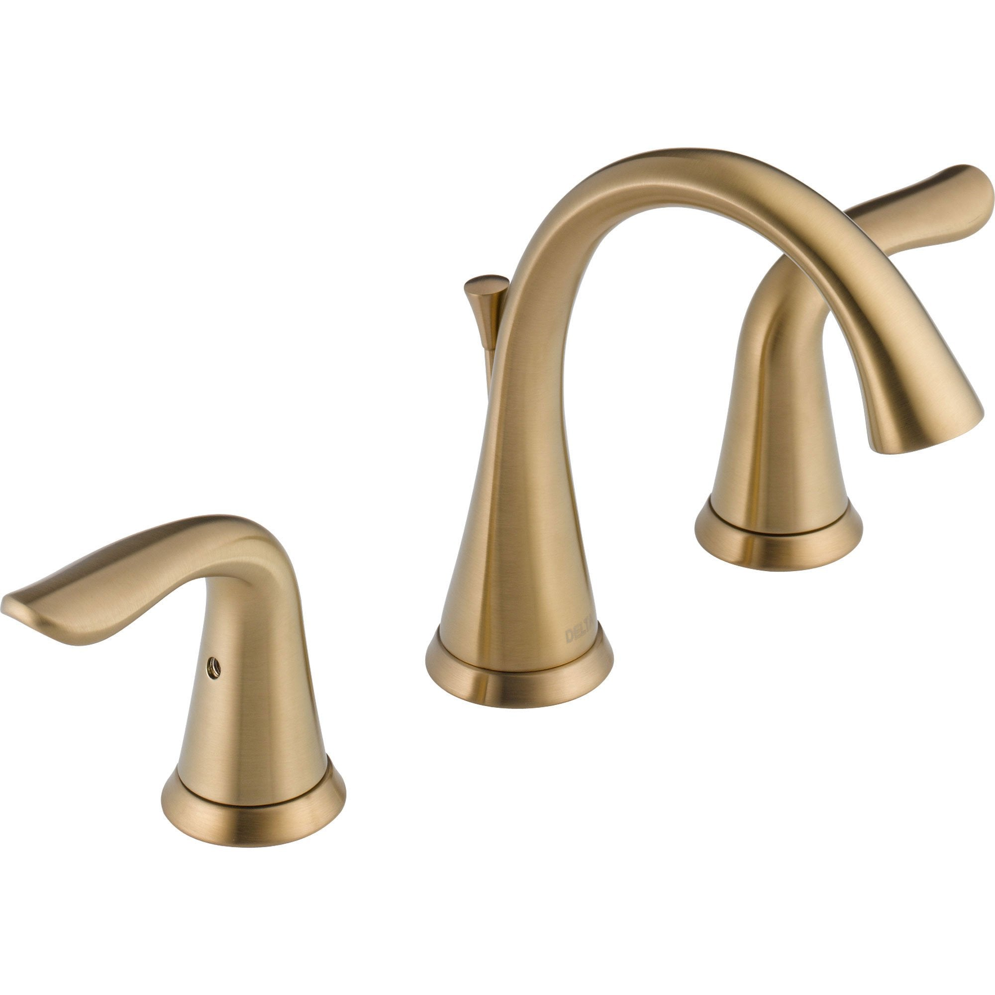 "Delta Lahara 4-16"" Mini-Widespread Bathroom Faucet in Champagne Bronze 572927"