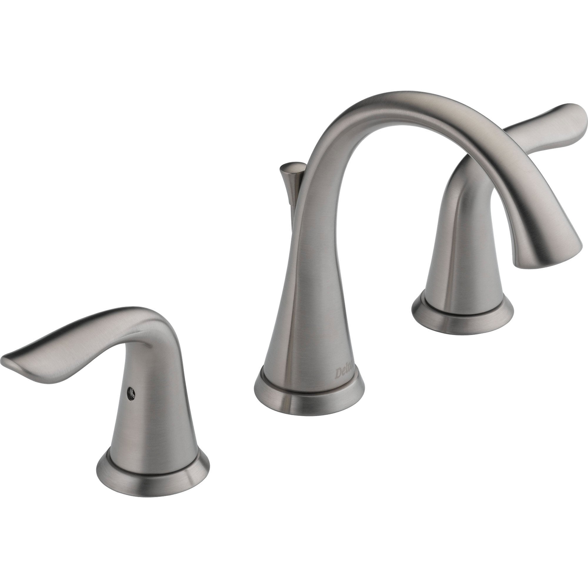 Delta Bathroom Faucets.Delta Lahara 4 16 Stainless Finish Mini Widespread Bathroom Faucet 572931