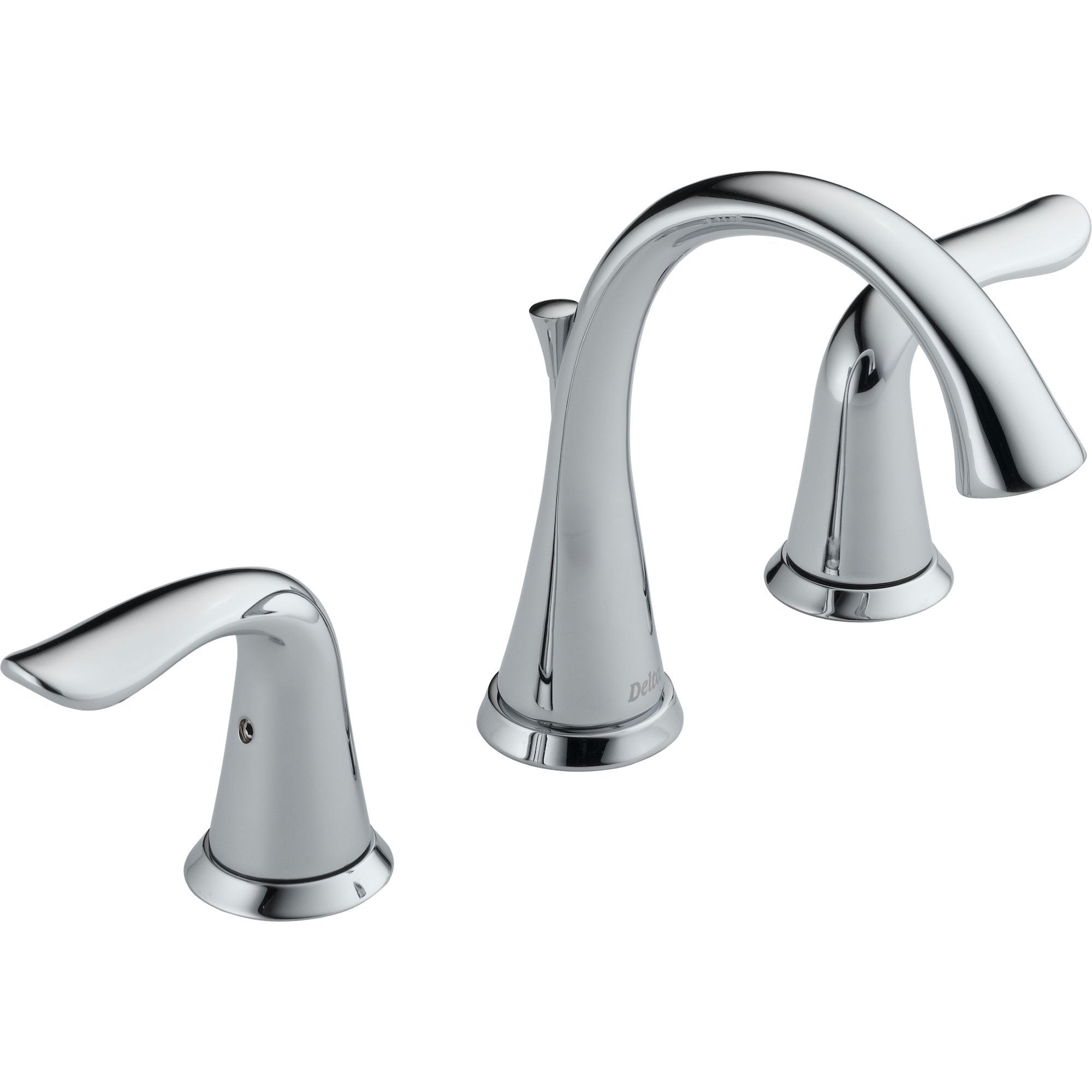 "Delta Lahara 8"" Widespread 2-Handle High Arc Bathroom Faucet in Chrome 474223"