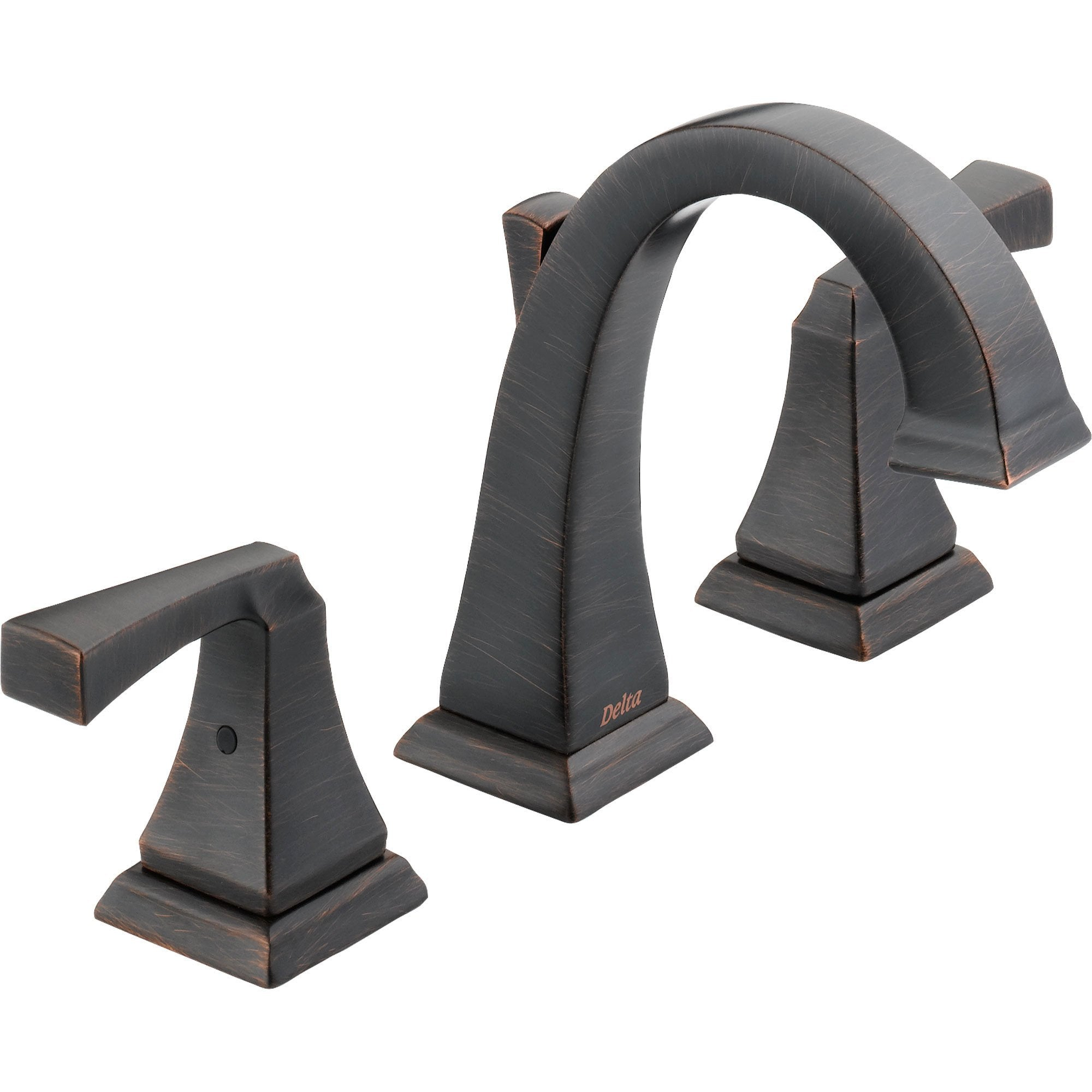 Delta Dryden Modern High Arc Venetian Bronze Widespread Bathroom Faucet 474219