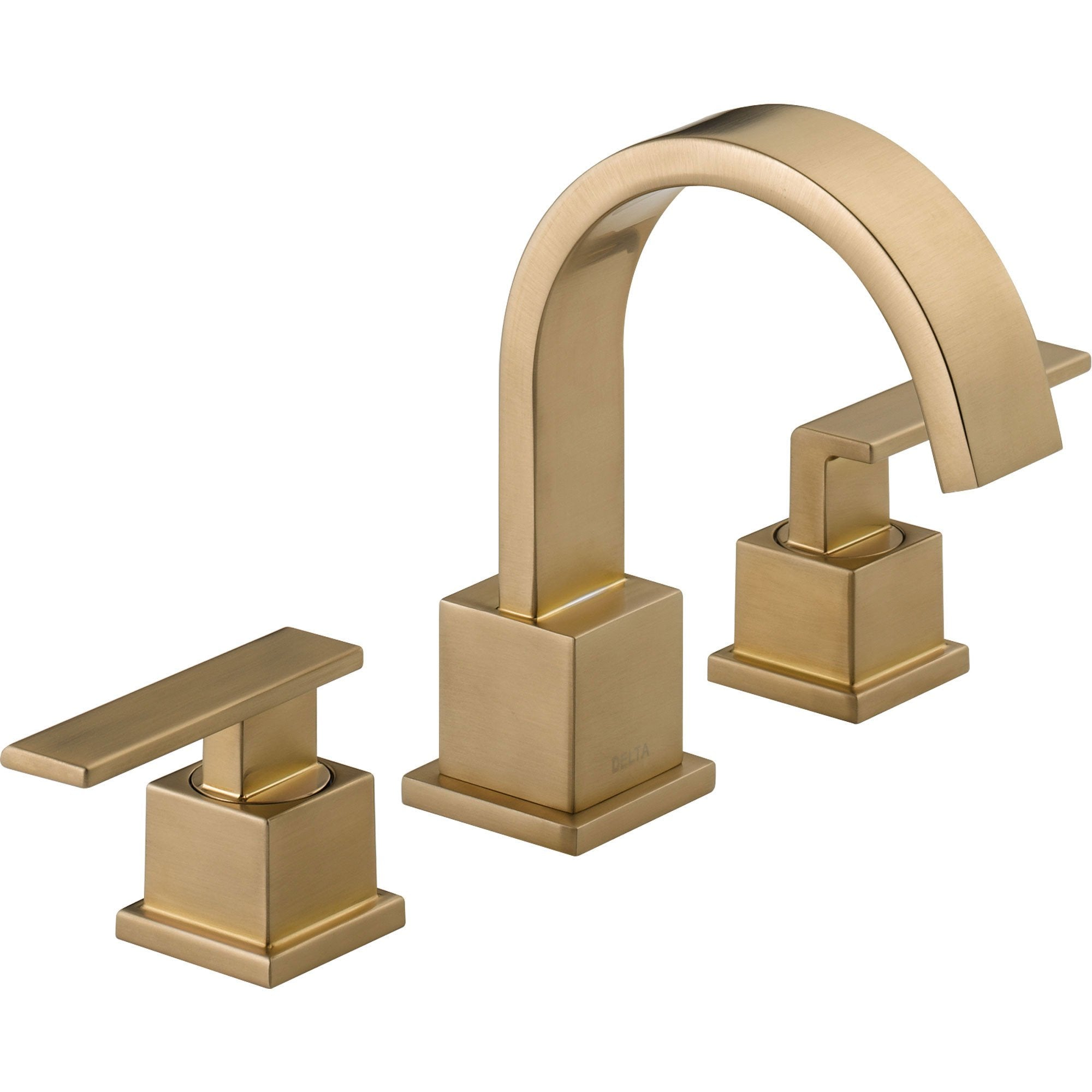 Delta Vero Widespread 2-Handle High Arc Champagne Bronze Bathroom Faucet 555980