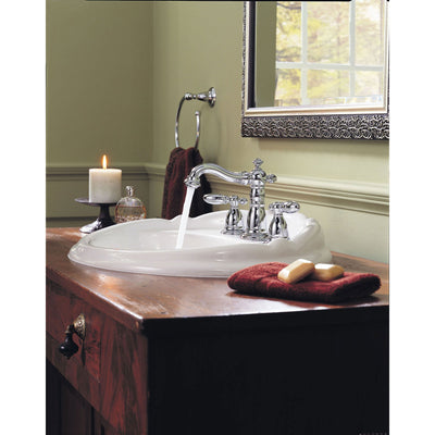 Delta Victorian Chrome 8 in. Widespread 2-Handle High Arc Bathroom Faucet 474236