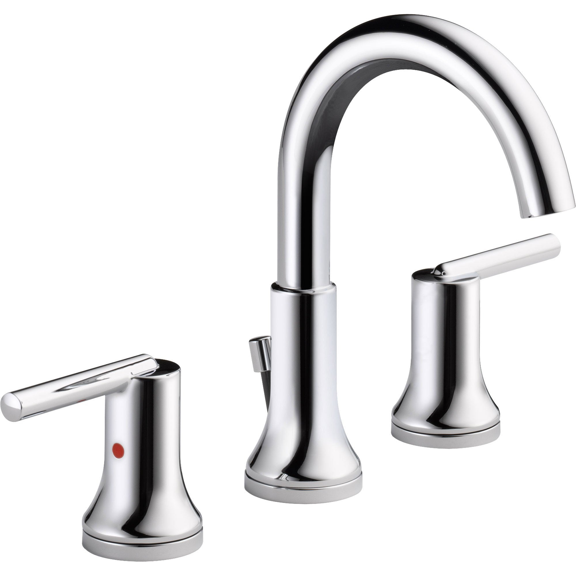 Delta Trinsic Modern Chrome Finish Widespread High Arc Bathroom Faucet 614922