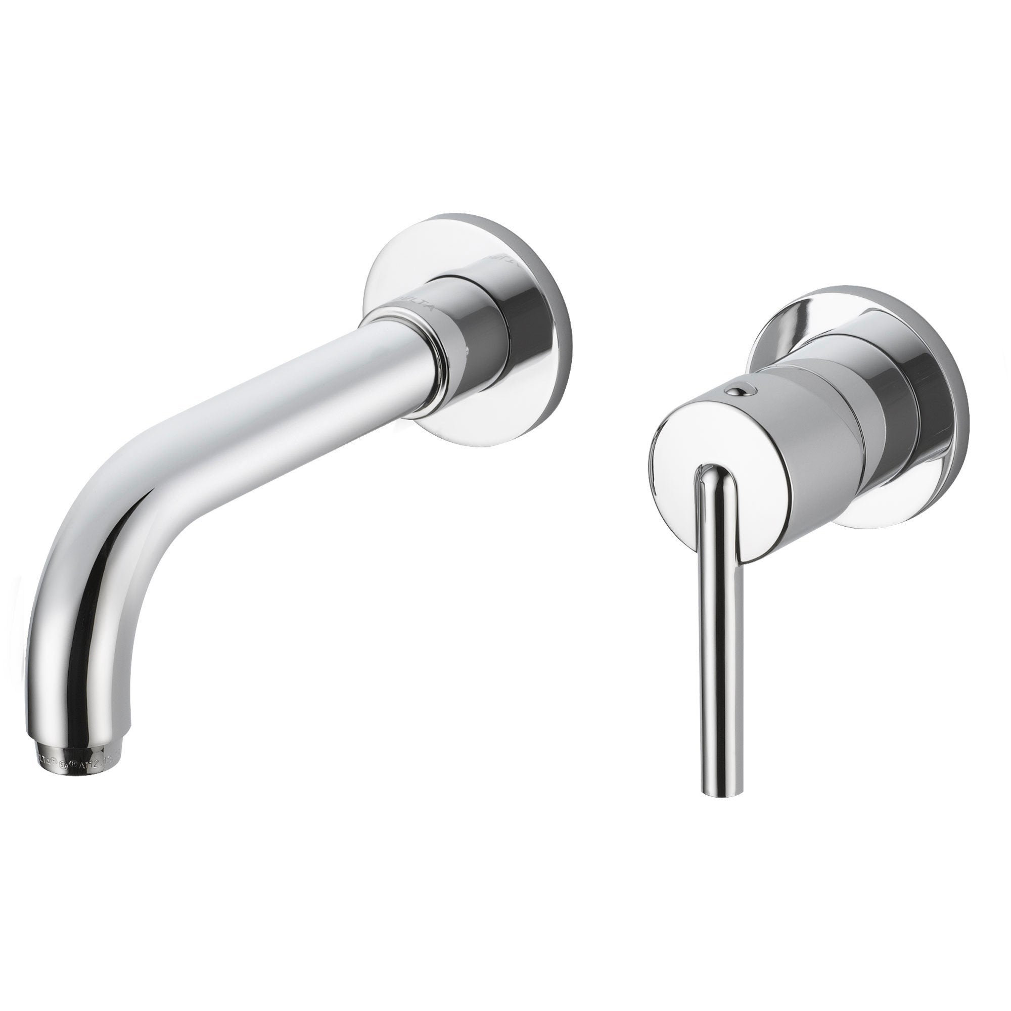 Delta Trinsic Wall Mount Single Handle Chrome Finish Bathroom Faucet 590140