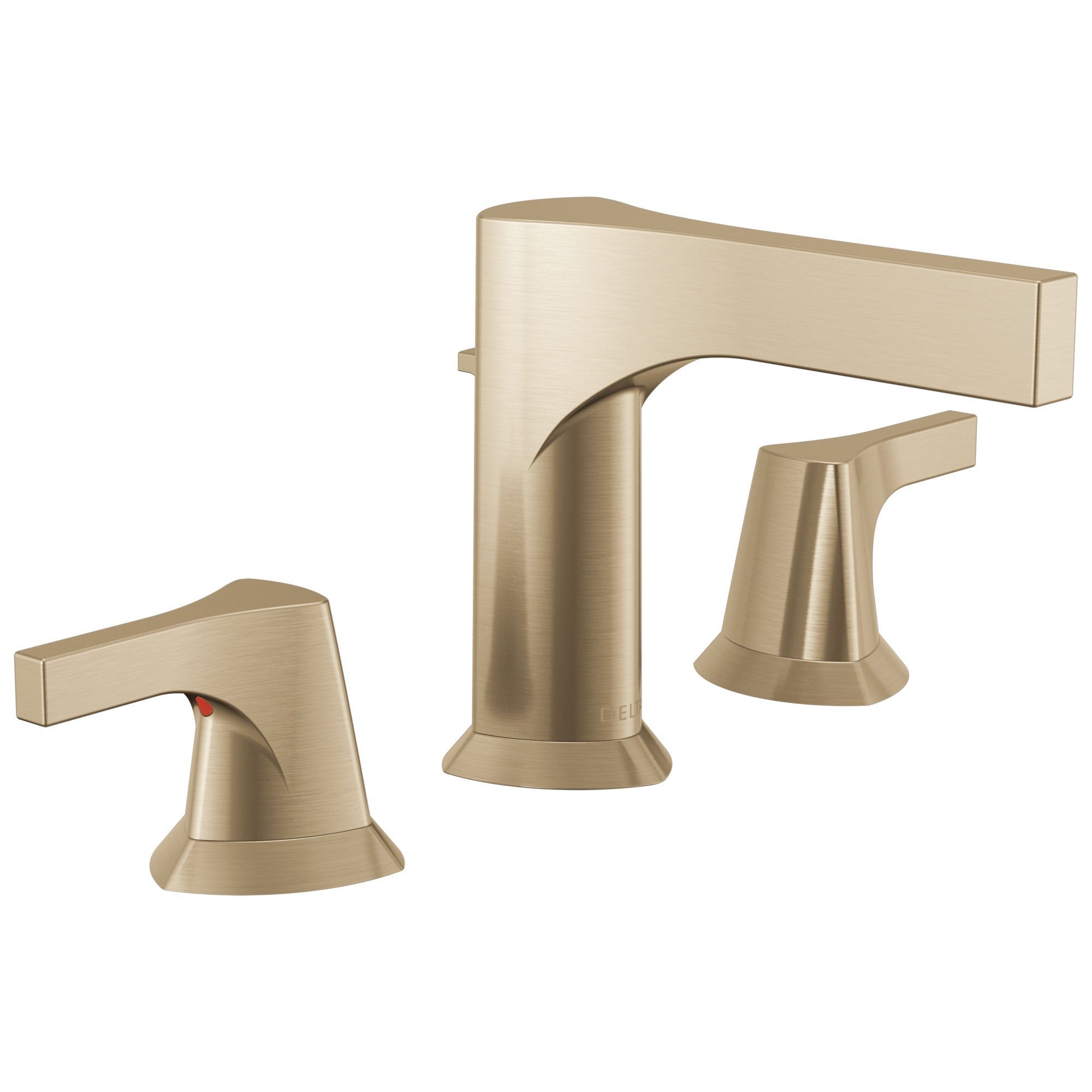 Delta Zura Champagne Bronze Finish Two Handle Widespread Bathroom Faucet with Drain D3574CZMPUDST