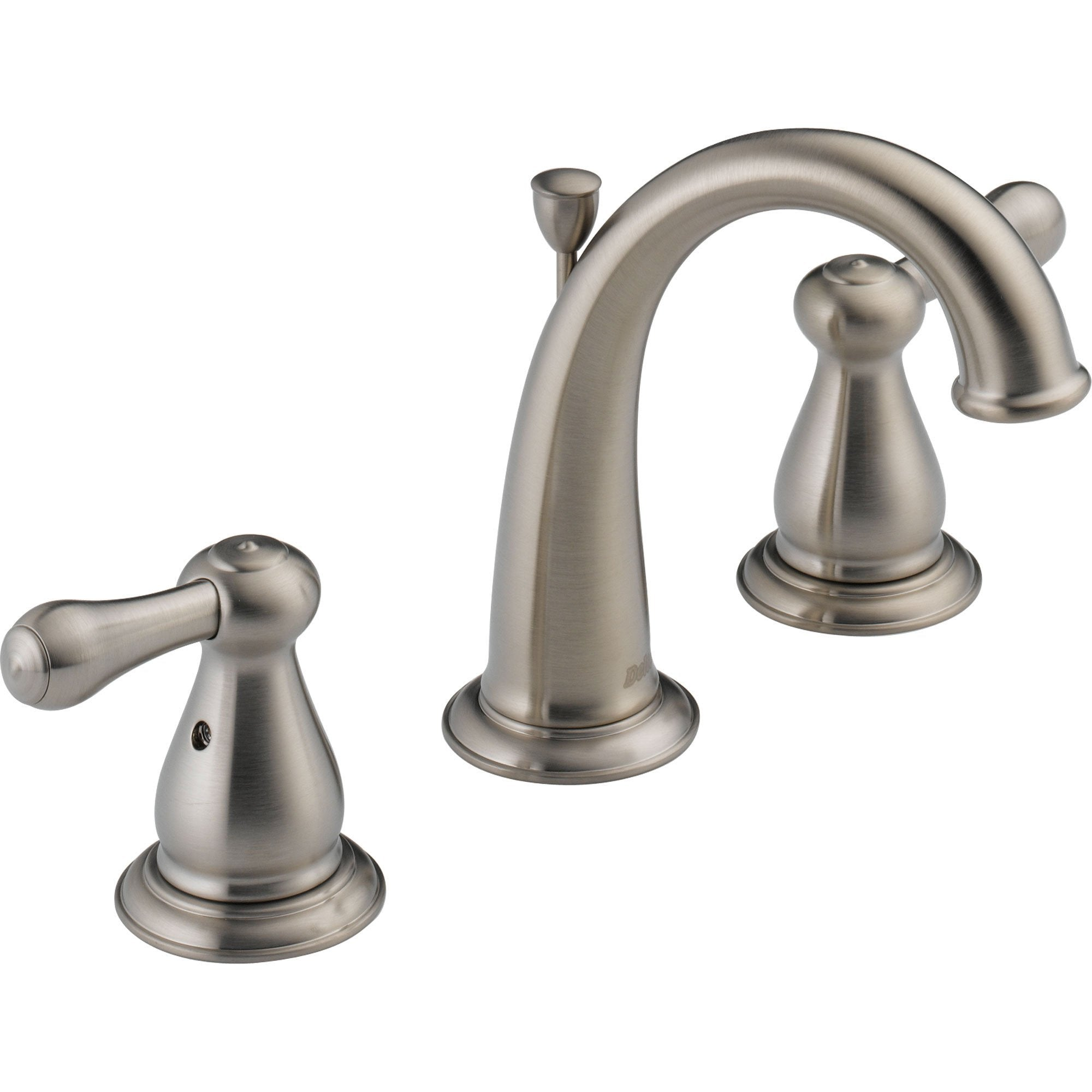 Delta Leland 8 in. 2-Handle High Arc Bathroom Faucet in Stainless Finish 572935