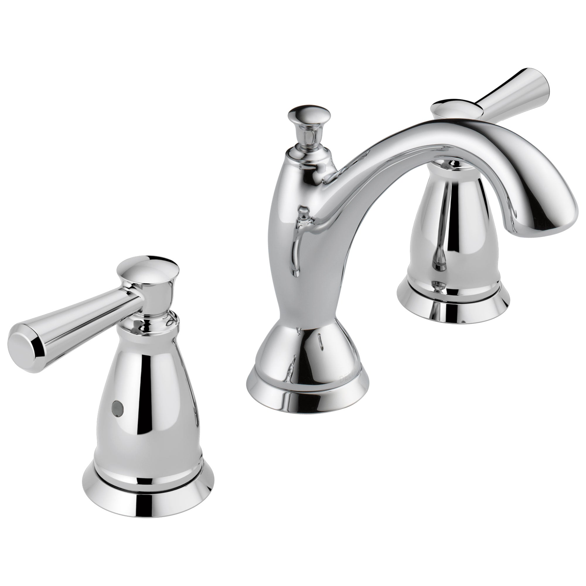 Delta Linden Collection Chrome Finish Two Handle Widespread Lavatory Bathroom Sink Faucet with Metal Pop-up Drain D3593MPUDST