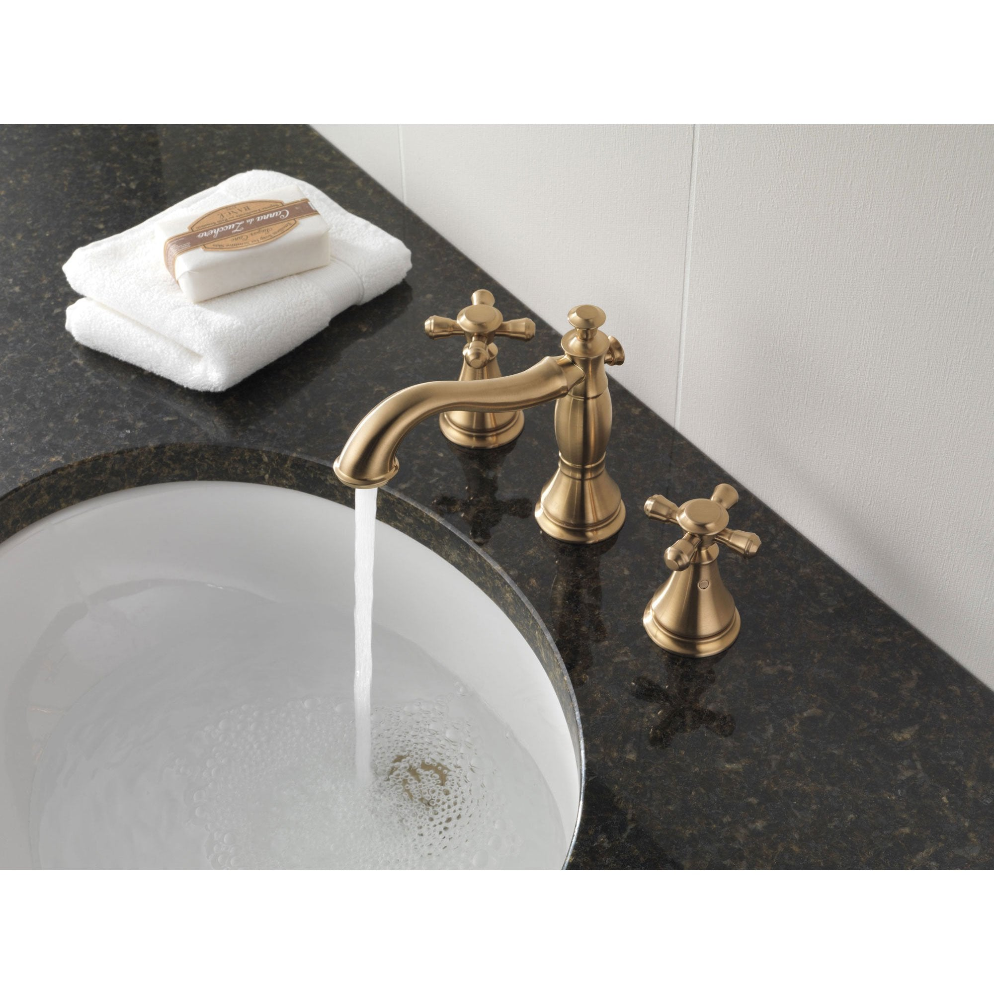 Delta Cassidy Collection Champagne Bronze Widespread Lavatory ...