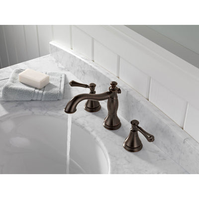 Delta Venetian Bronze 2-Handle Widespread Bathroom Sink Faucet 579520