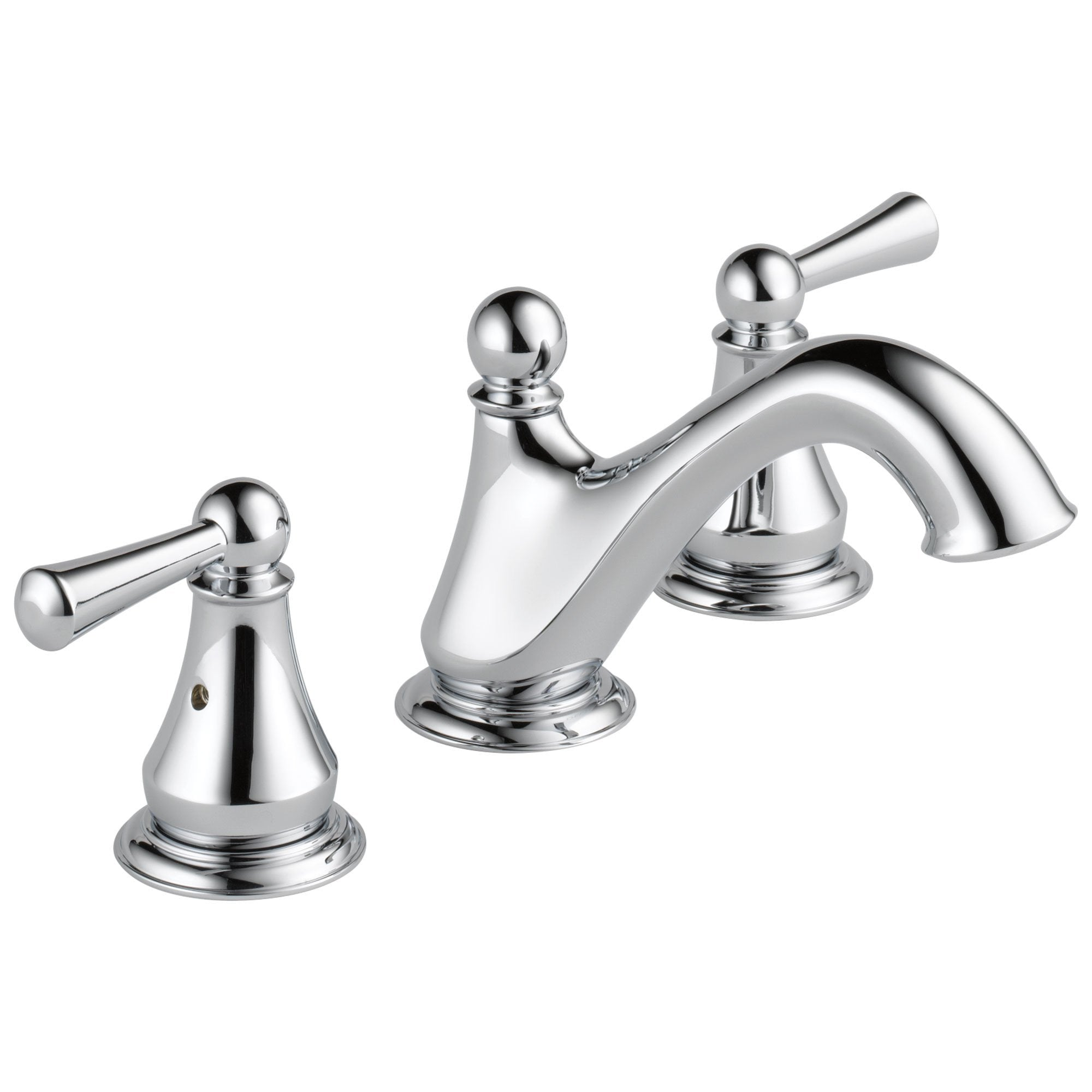 Delta Haywood Collection Chrome Finish Two Lever Handle Widespread Lavatory Bathroom Sink Faucet 722479