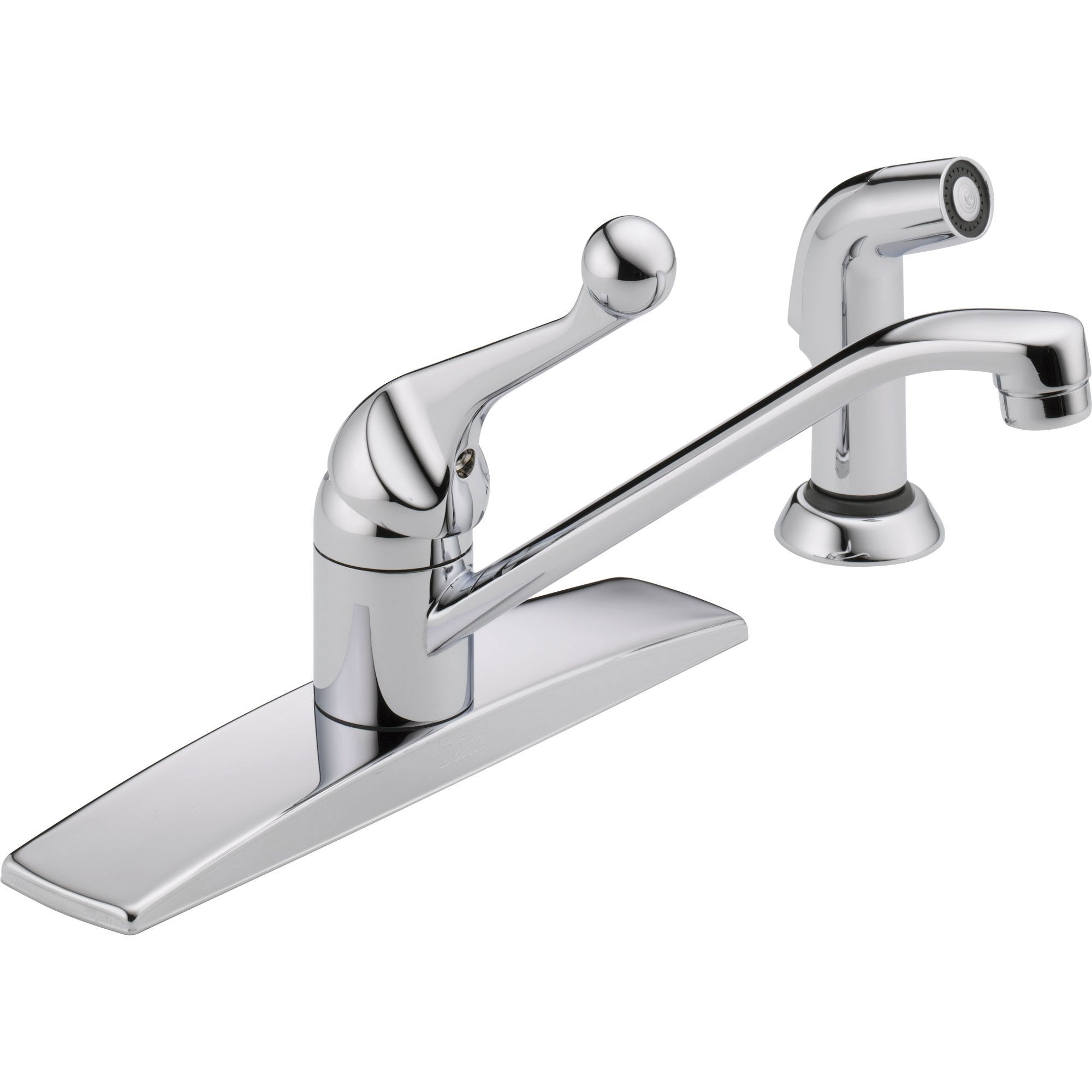 Delta Classic Single Handle Side Sprayer Kitchen Faucet in Chrome Finish 610442