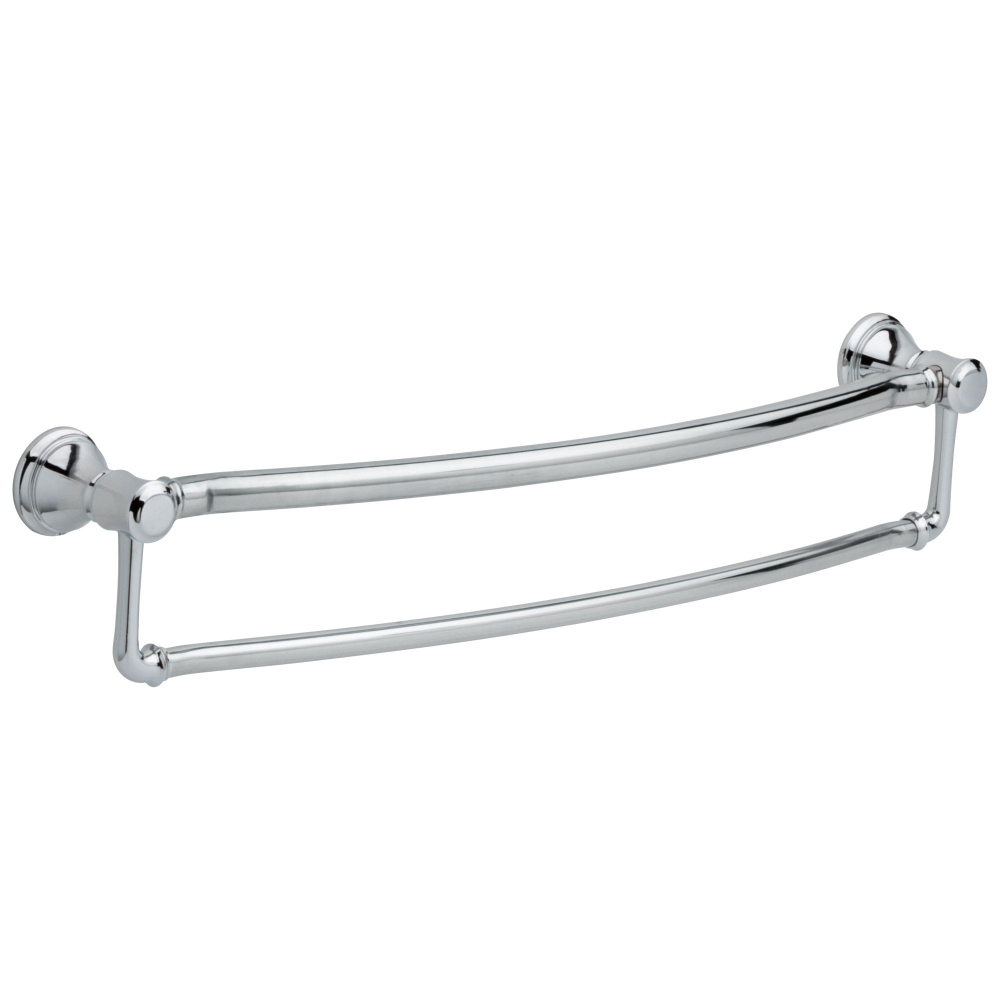 "Delta Bath Safety Collection Chrome Finish Traditional Style Dual 24"" Towel Bar with Assist Grab Bar D41319"