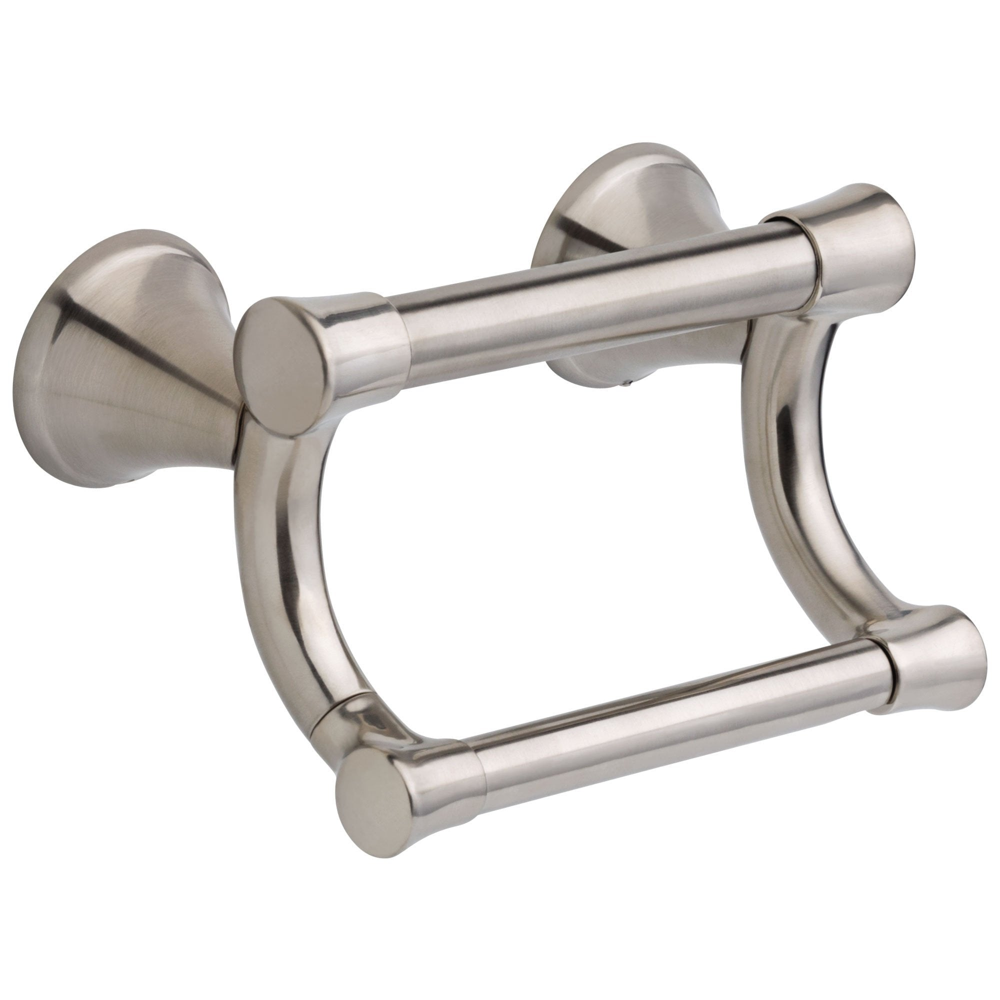 Delta Bath Safety Collection Stainless Steel Finish Transitional Style Toilet Tissue Paper Holder with Assist Grab Bar D41450SS
