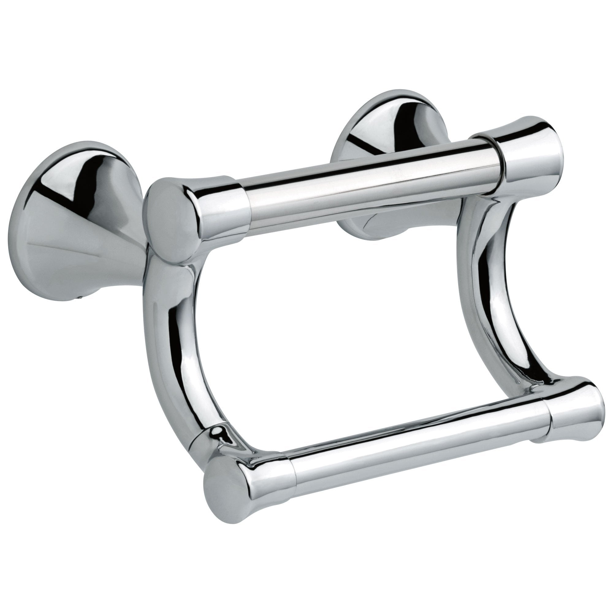 Delta Bath Safety Collection Chrome Finish Transitional Toilet Tissue Paper Holder with Assist Grab Bar D41450