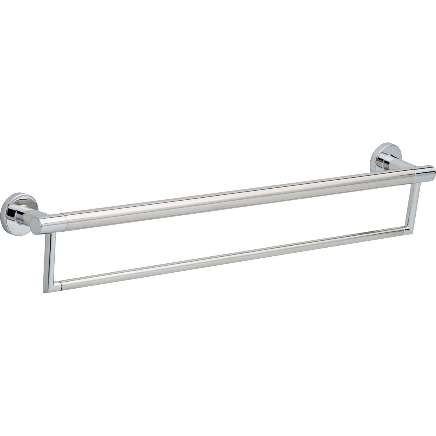 Delta Bath Safety Collection Chrome Finish Contemporary 24-inch Dual Towel Bar with Assist Grab Bar D41519