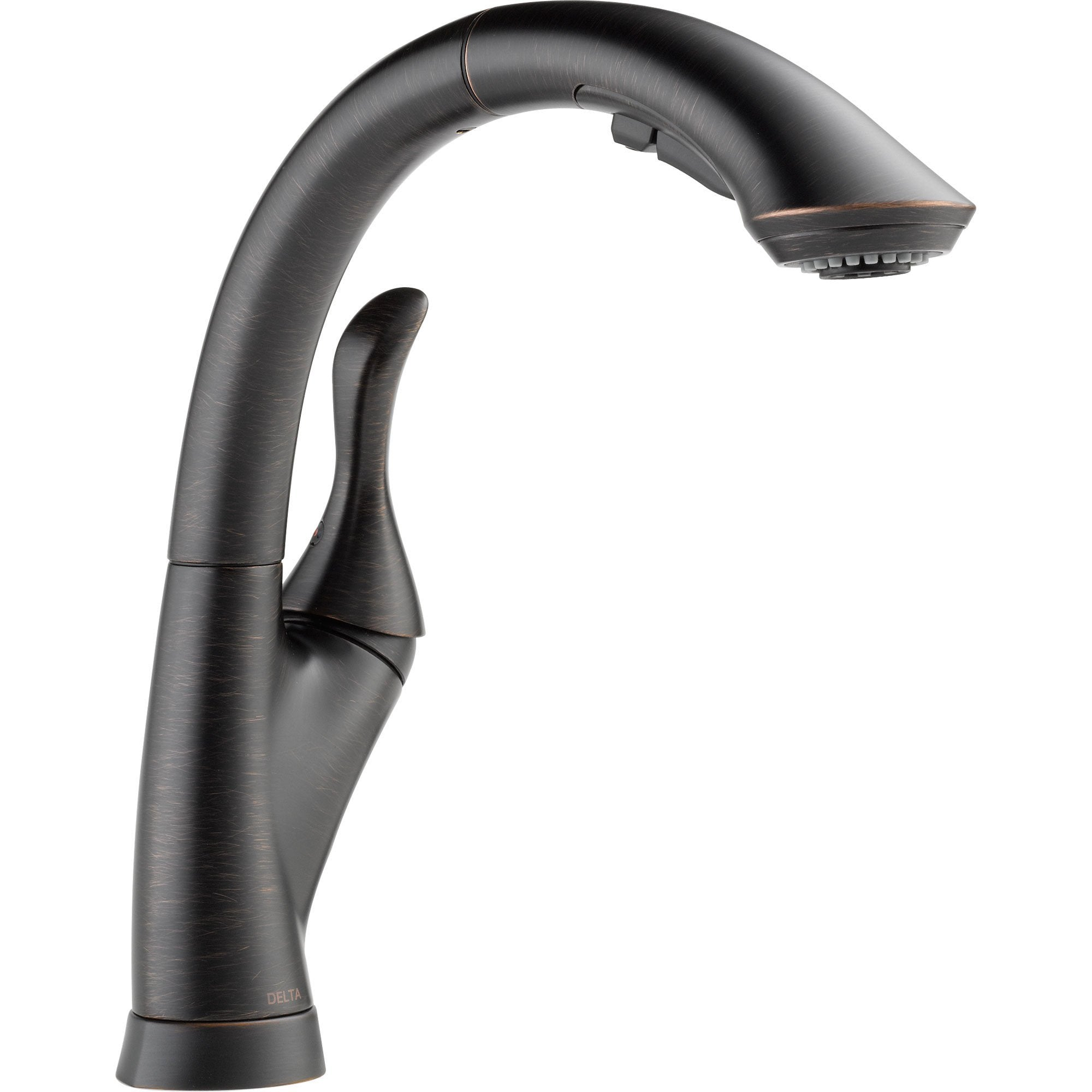 Delta Linden Venetian Bronze Single Handle Pull-Out Spray Kitchen Faucet 522007