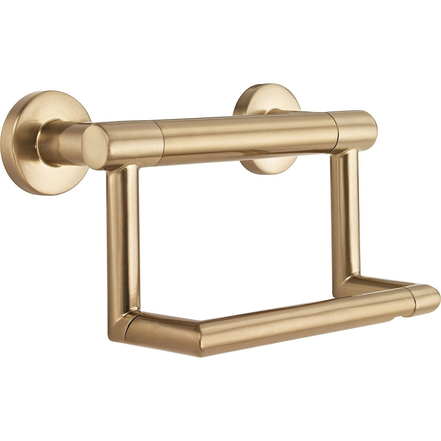 Delta Bath Safety Collection Champagne Bronze Finish Contemporary Toilet Tissue Paper Holder with Grab Assist Bar D41550CZ