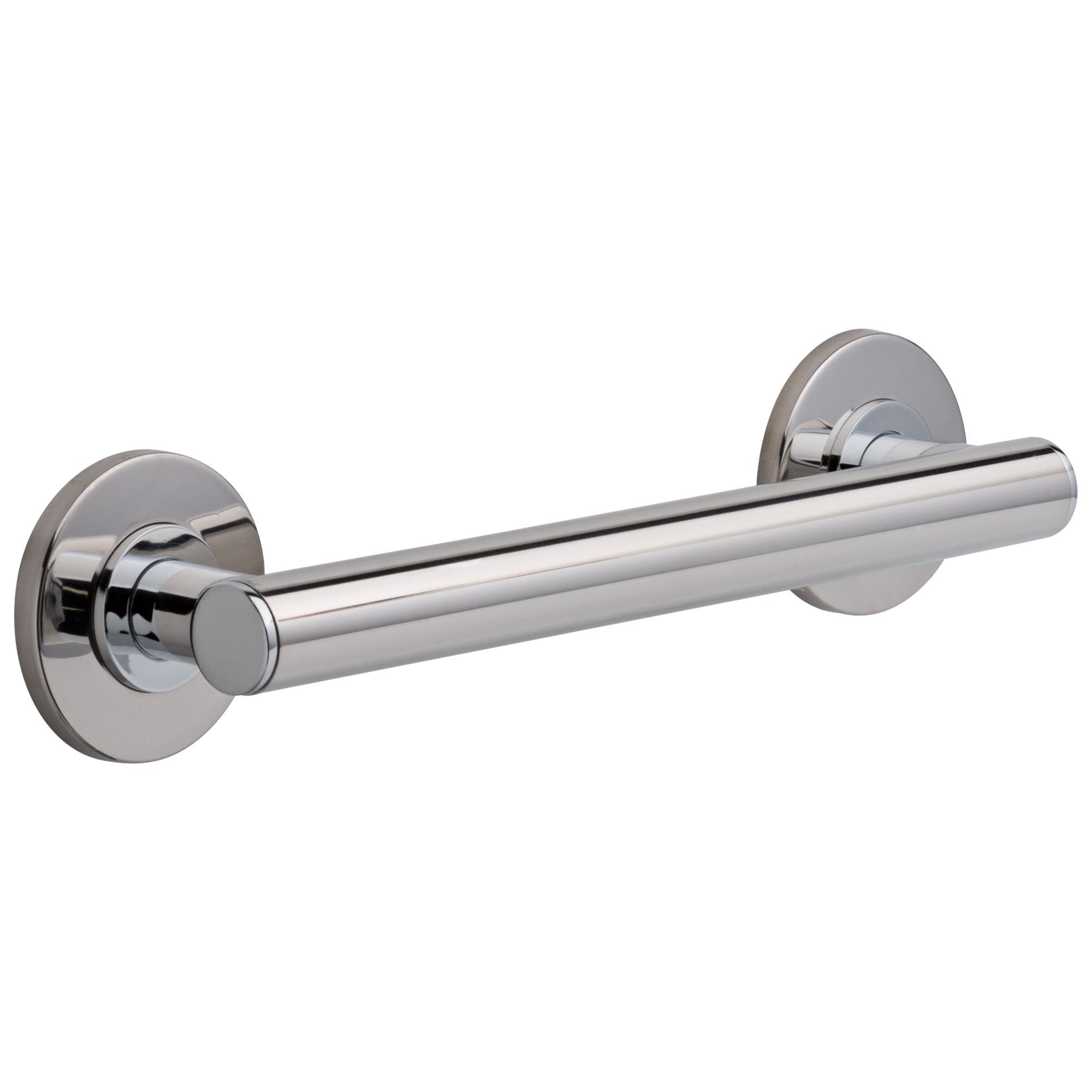 Delta Bath Safety Collection Chrome Finish Contemporary Decorative ADA Wall Mount 12-inch Grab Bar D41812