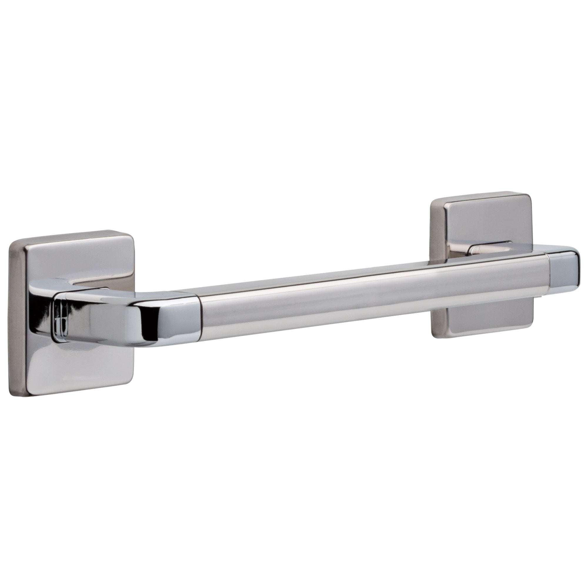 Delta Bath Safety Collection Chrome Finish Angular Modern Decorative ADA Approved Wall Mount Short 12-inch Grab Bar Handle D41912