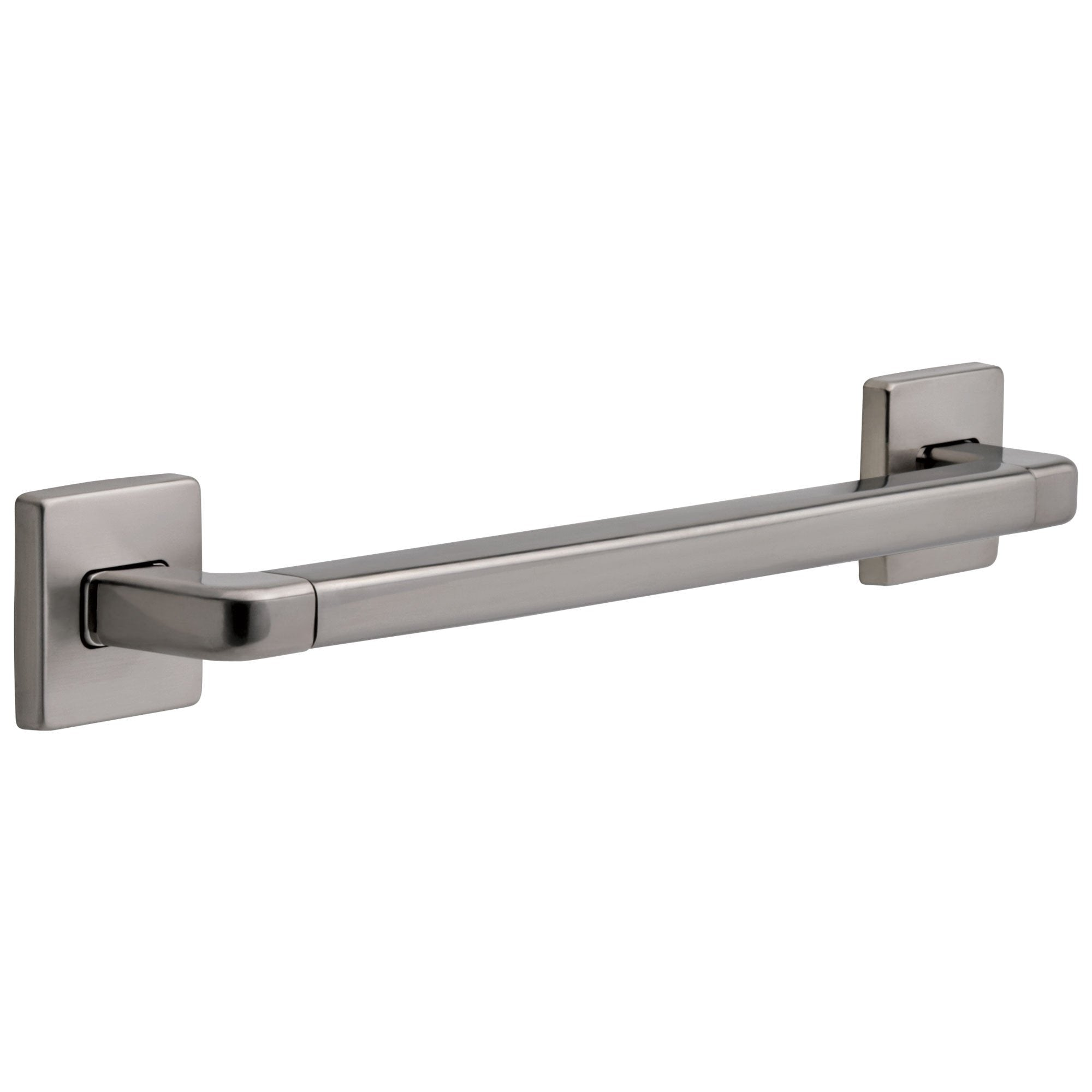 "Delta Bath Safety Collection Stainless Steel Finish Angular Modern Decorative Wall Mounted 18"" ADA Approved Grab Bar D41918SS"