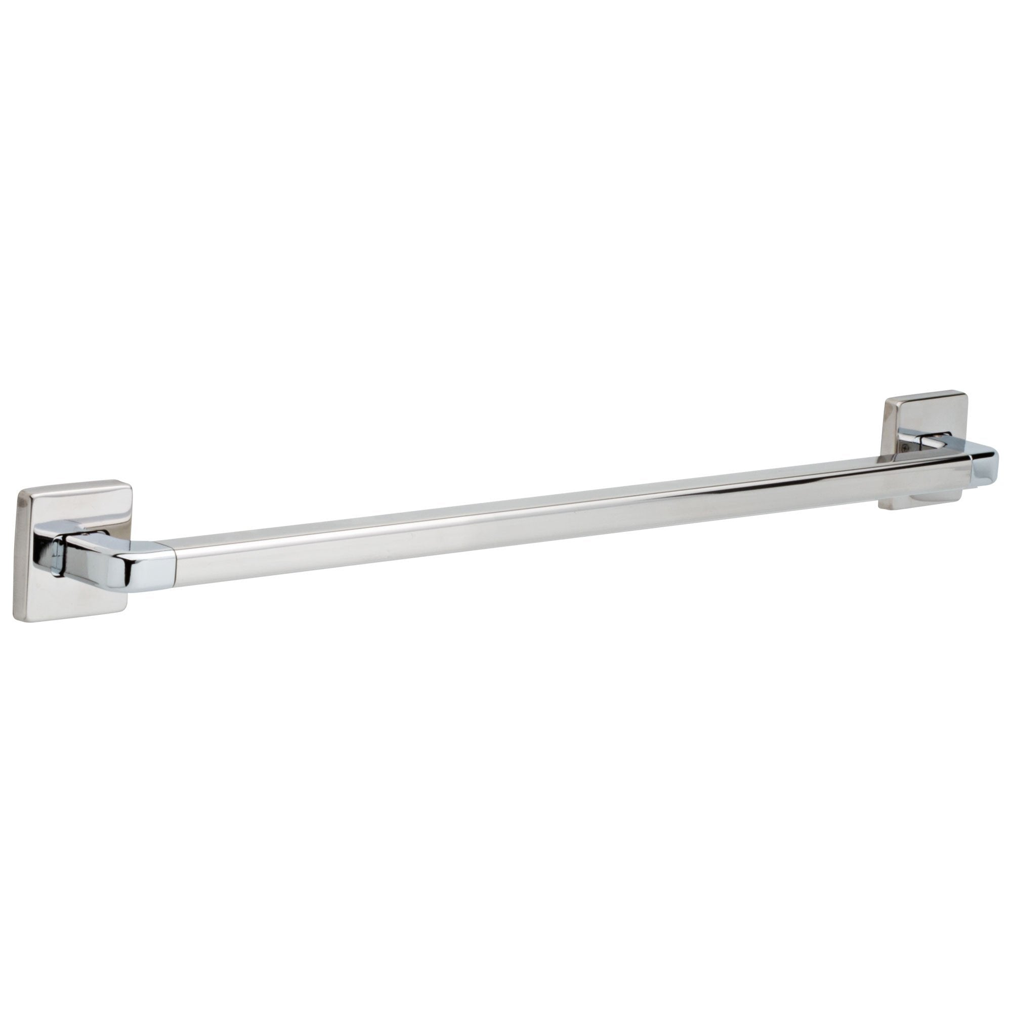 "Delta Bath Safety Collection Chrome Finish Angular Modern Decorative ADA Approved Wall Mount 24"" Grab Bar D41924"