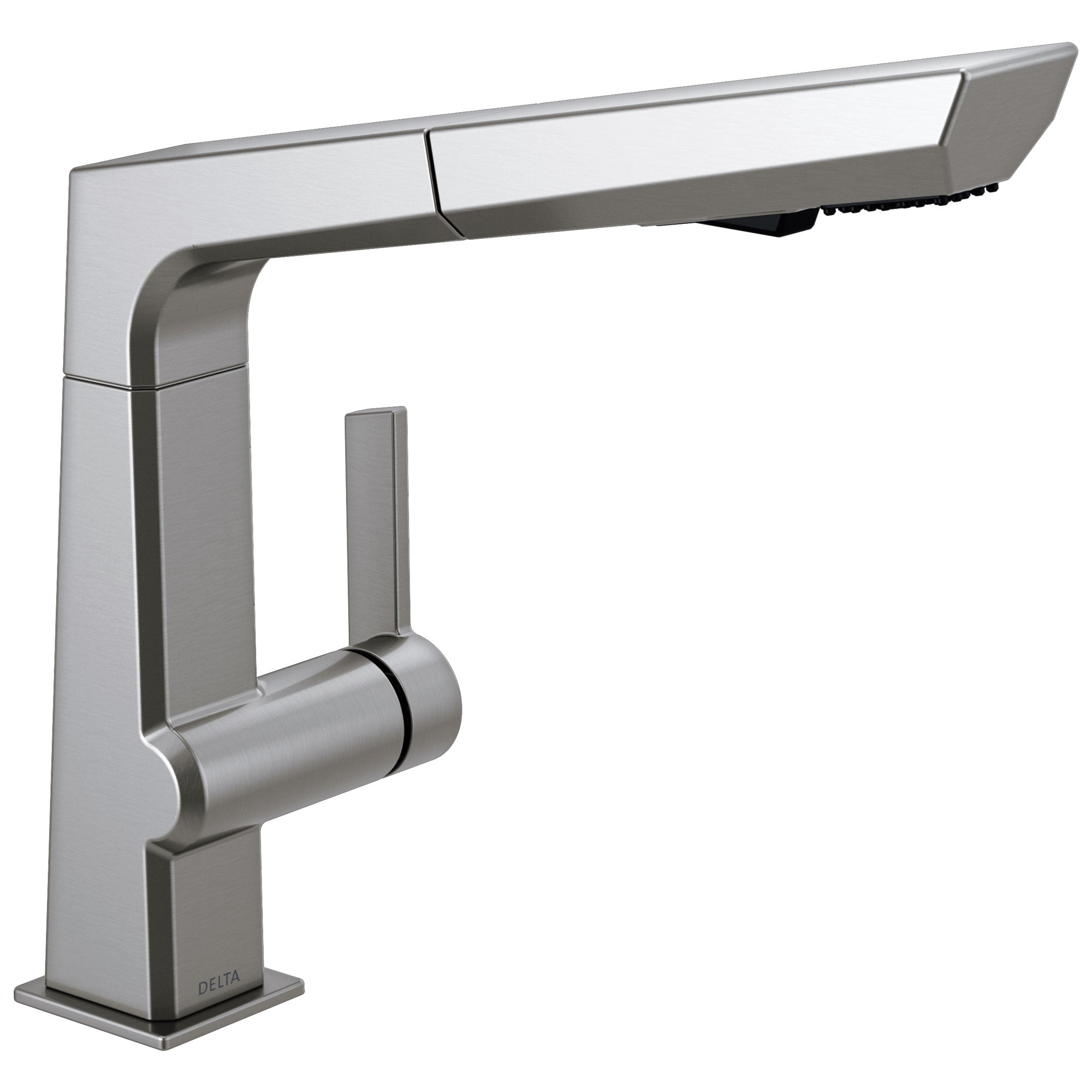 Delta Pivotal Modern Arctic Stainless Steel Finish Single Handle Pull-Out Kitchen Faucet D4193ARDST