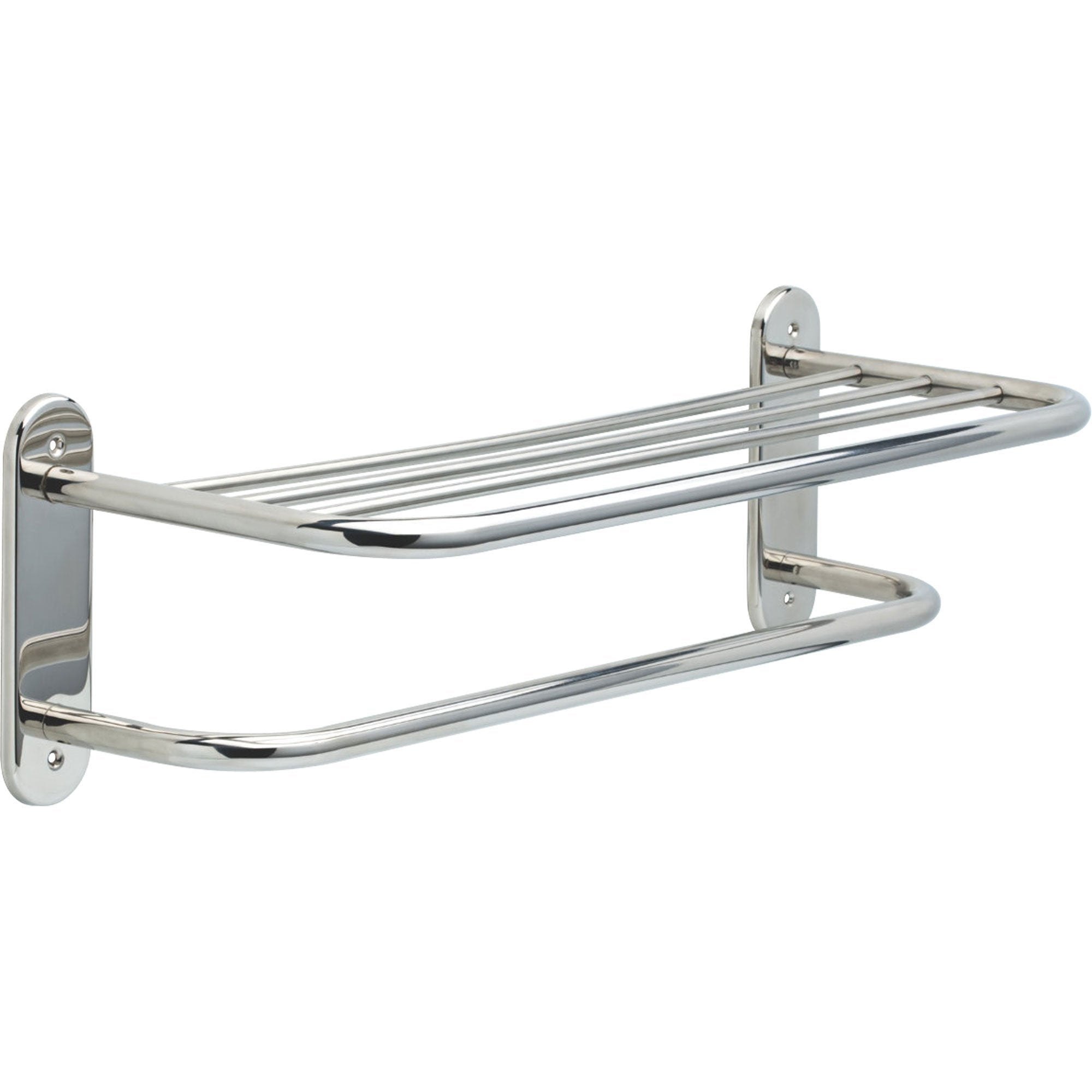Delta Stainless Steel Finish 24 inch Bathroom Towel Bar with Shelf 572954
