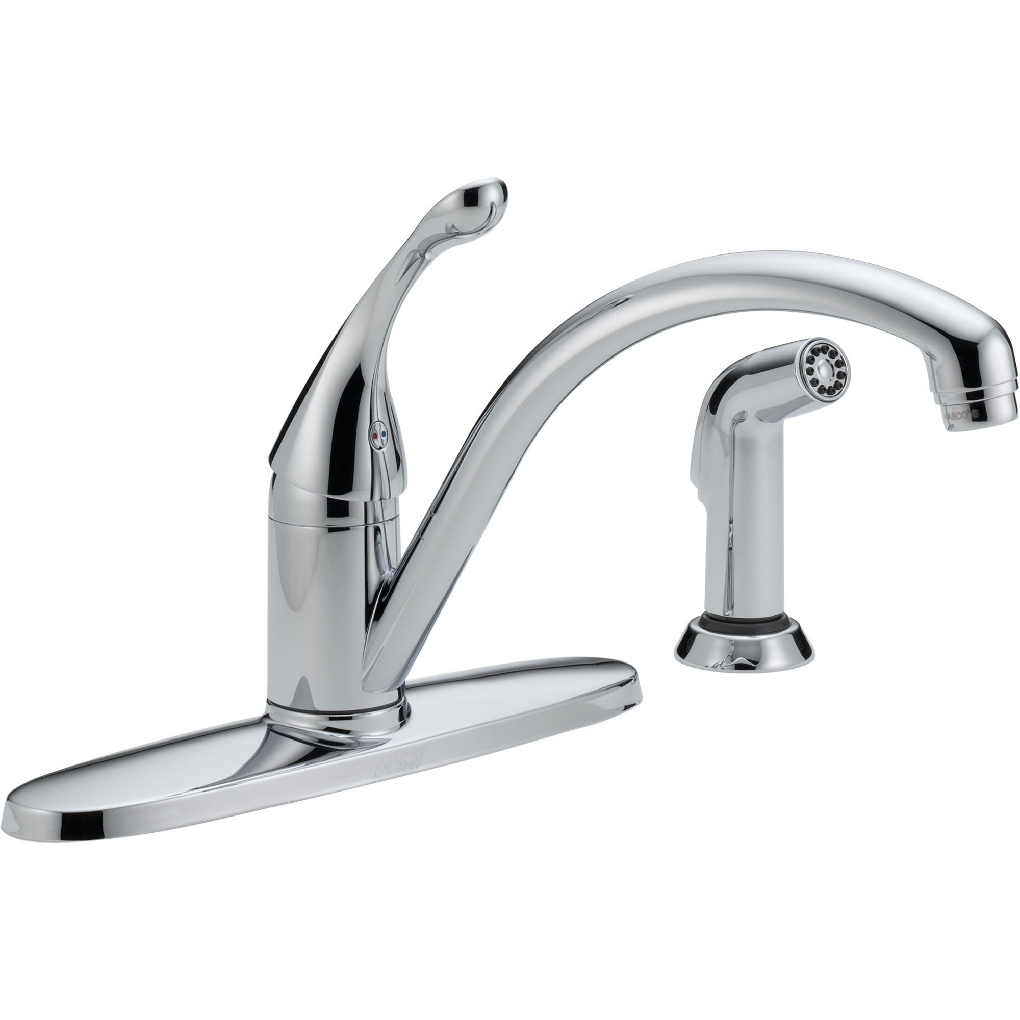 Delta Collins Single Handle Chrome Finish Kitchen Faucet with Side Spray 465288