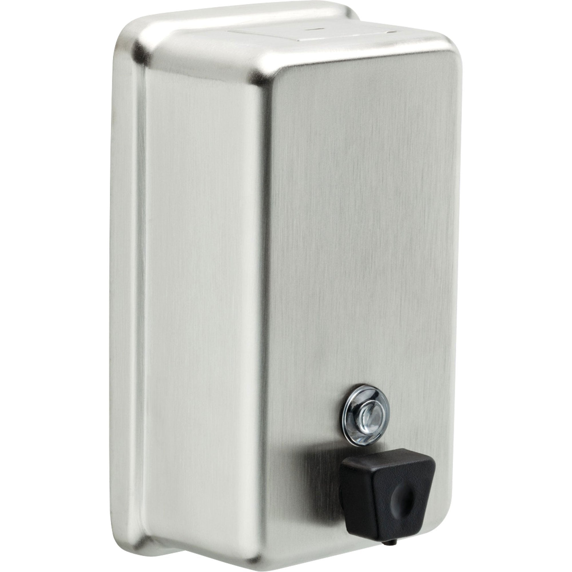 Delta Vertical Wall-Mount Liquid Soap Dispenser in Stainless Finish 572955