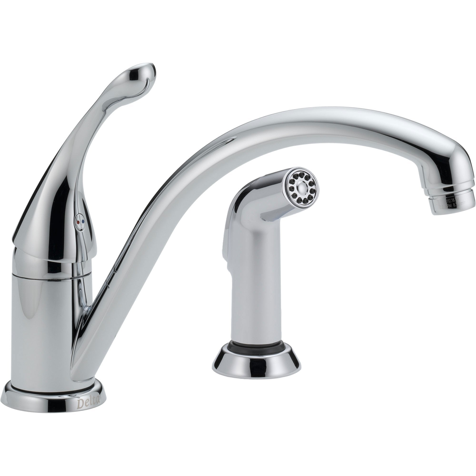 Delta Collins Single Handle Chrome Kitchen Faucet with Side Sprayer 465291