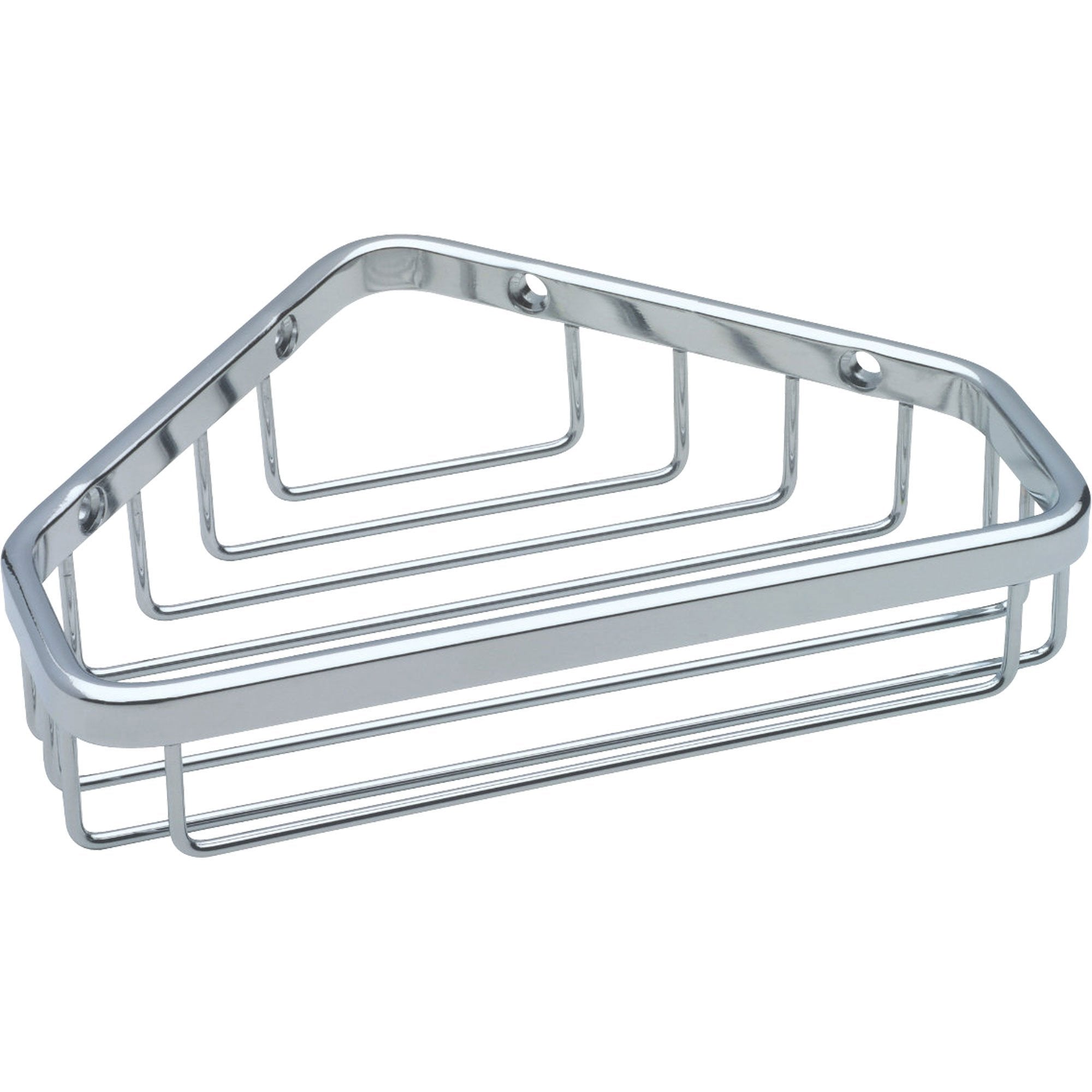 Delta Bright Stainless Steel Finish Small Corner Shower Wire Rack Caddy 567271